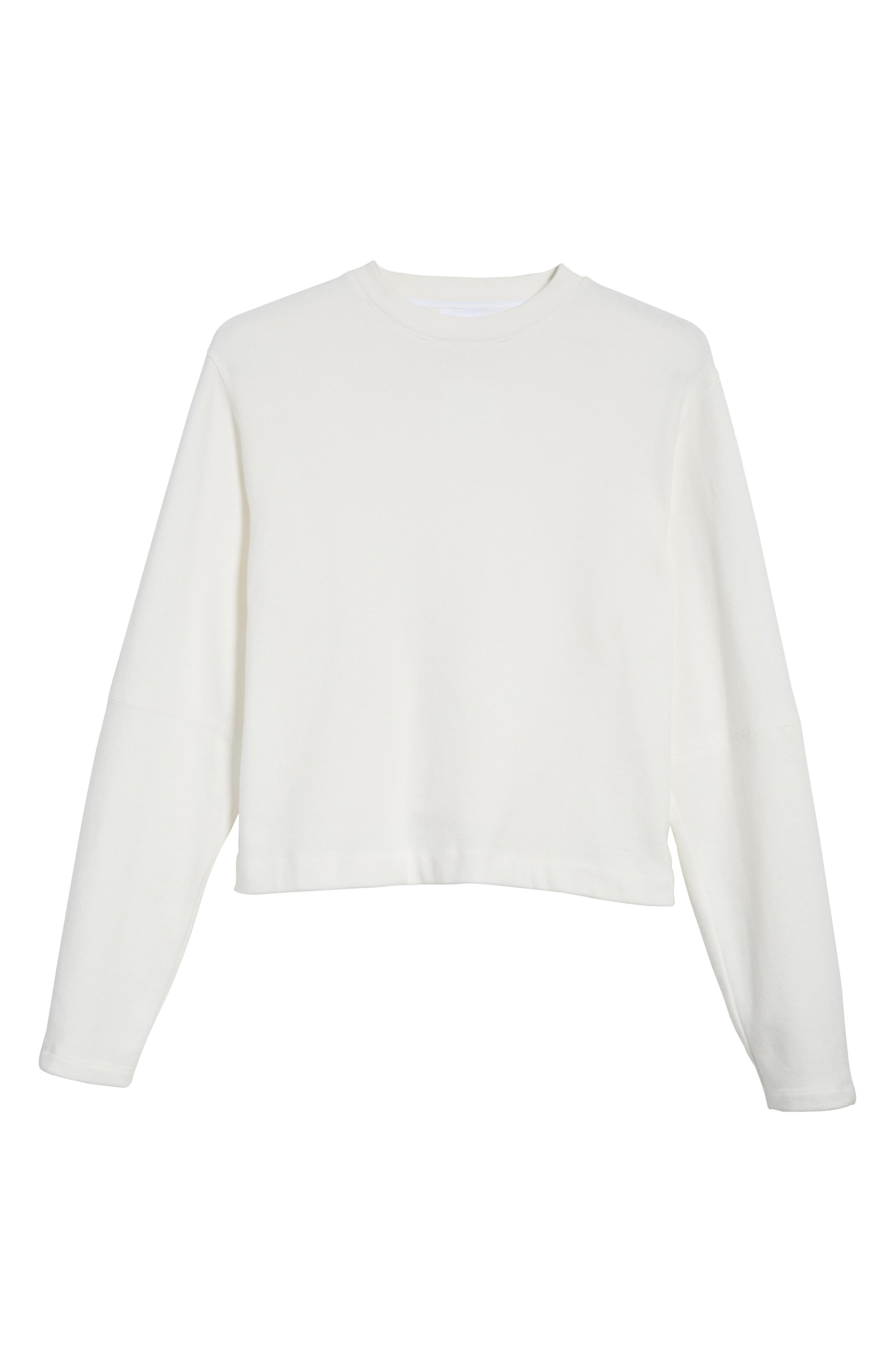 Rib Detail Crewneck Sweater,                             Alternate thumbnail 12, color,
