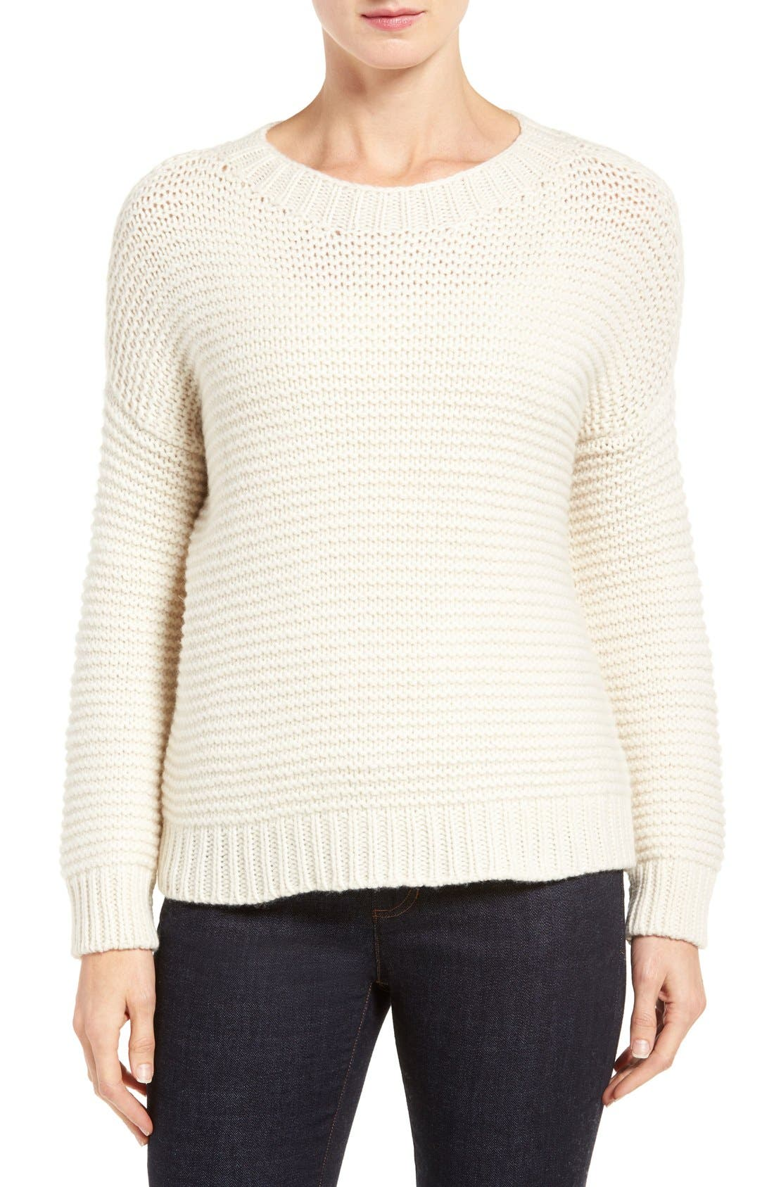 Lofty Recycled Cashmere Blend Sweater,                             Main thumbnail 1, color,                             103