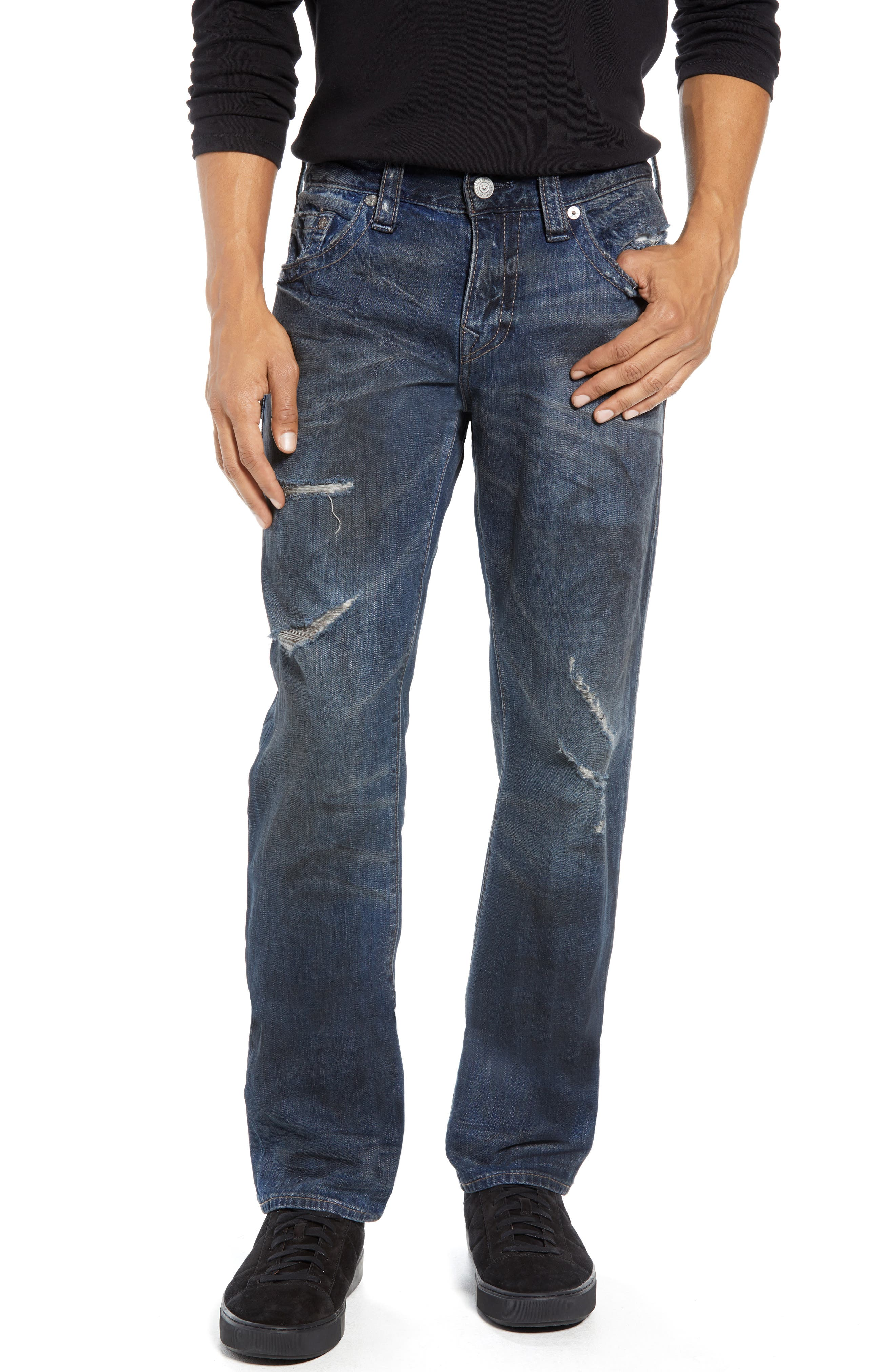 Rocco Distressed Skinny Fit Jeans,                             Main thumbnail 1, color,                             MIDNIGHT STORM