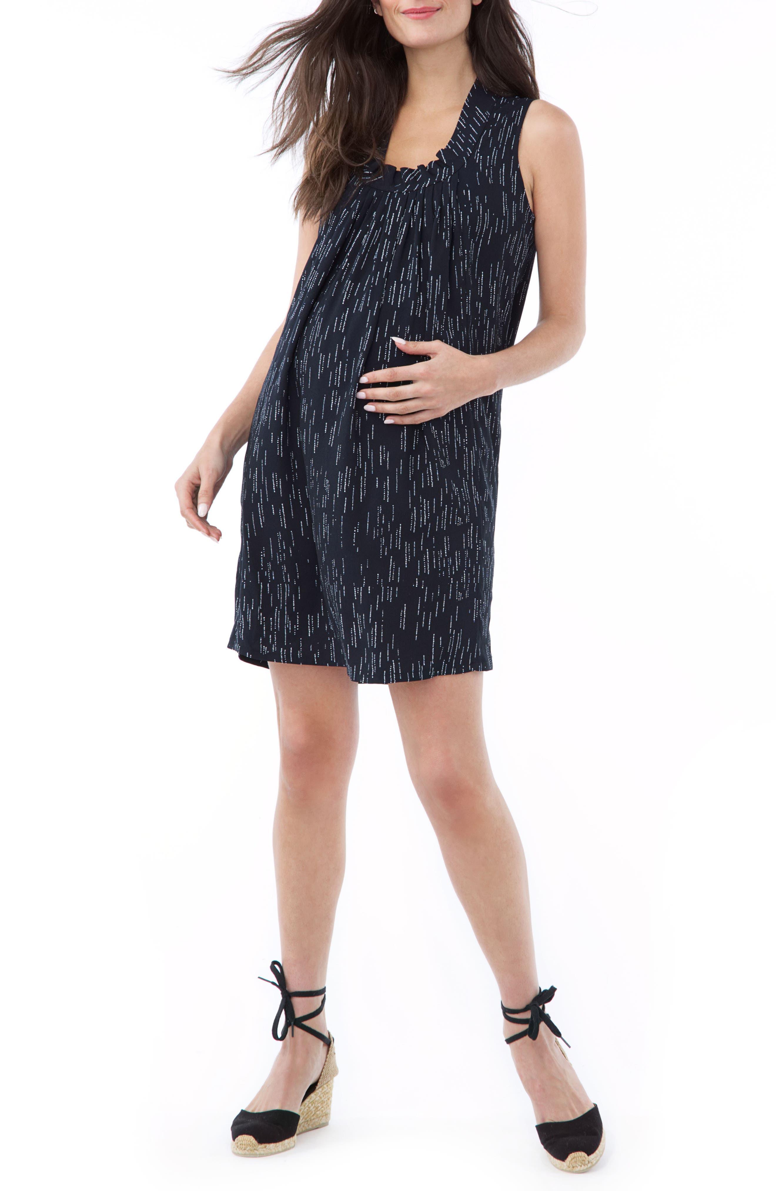 Loyal Hana Anya Maternity/nursing Dress, Blue