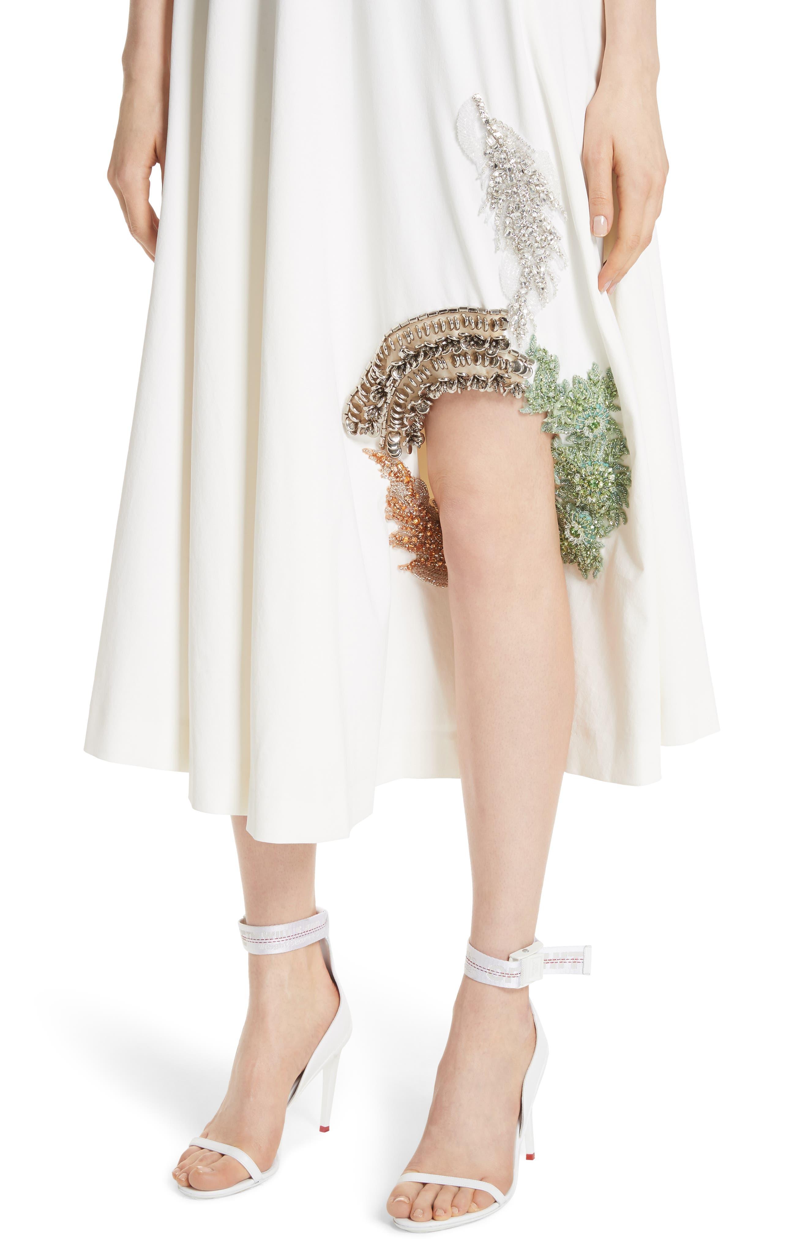 TOGA,                             Beaded Keyhole Dress,                             Alternate thumbnail 6, color,                             100