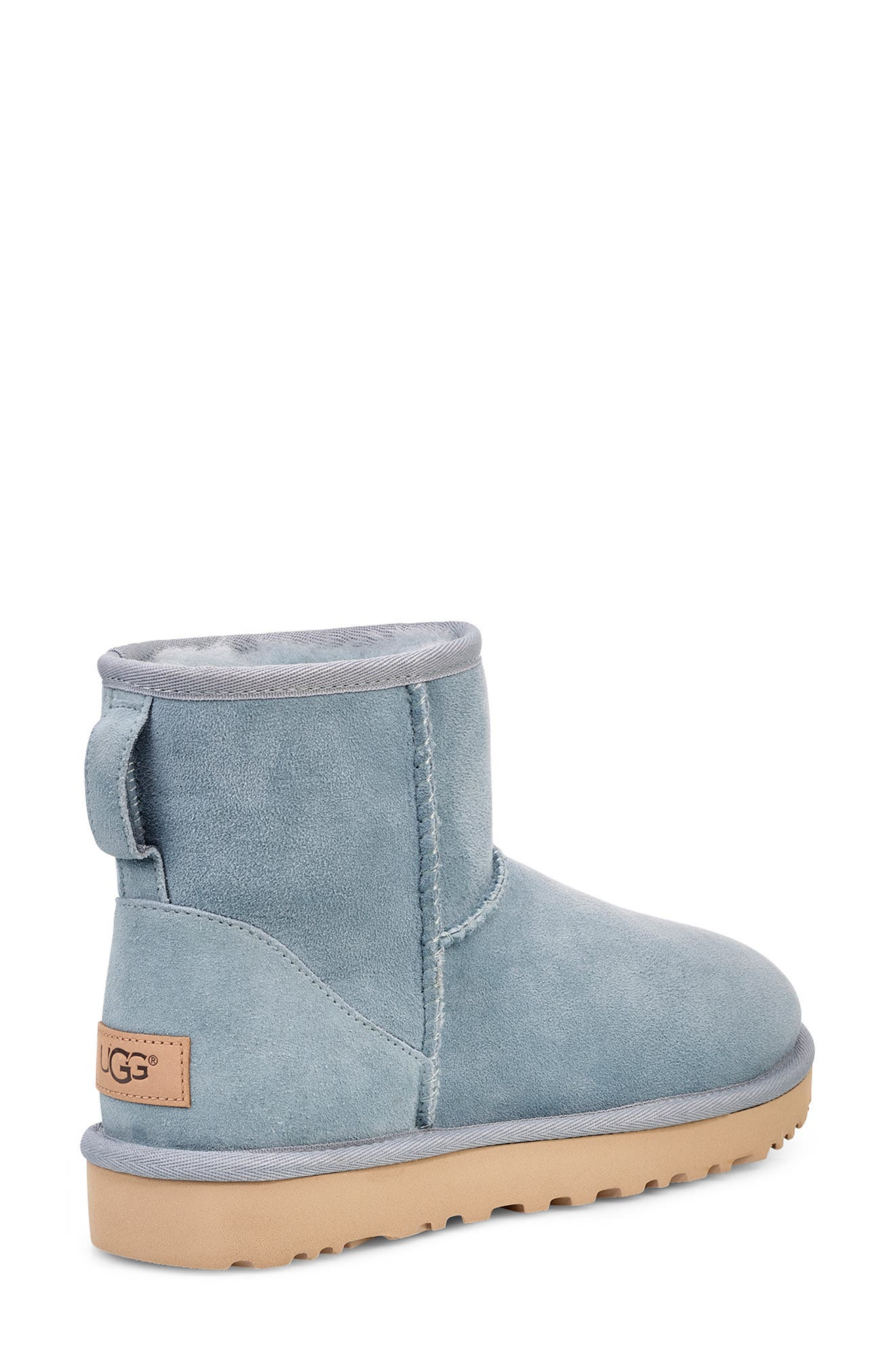 'Classic Mini II' Genuine Shearling Lined Boot,                             Alternate thumbnail 2, color,                             SUCCULENT SUEDE