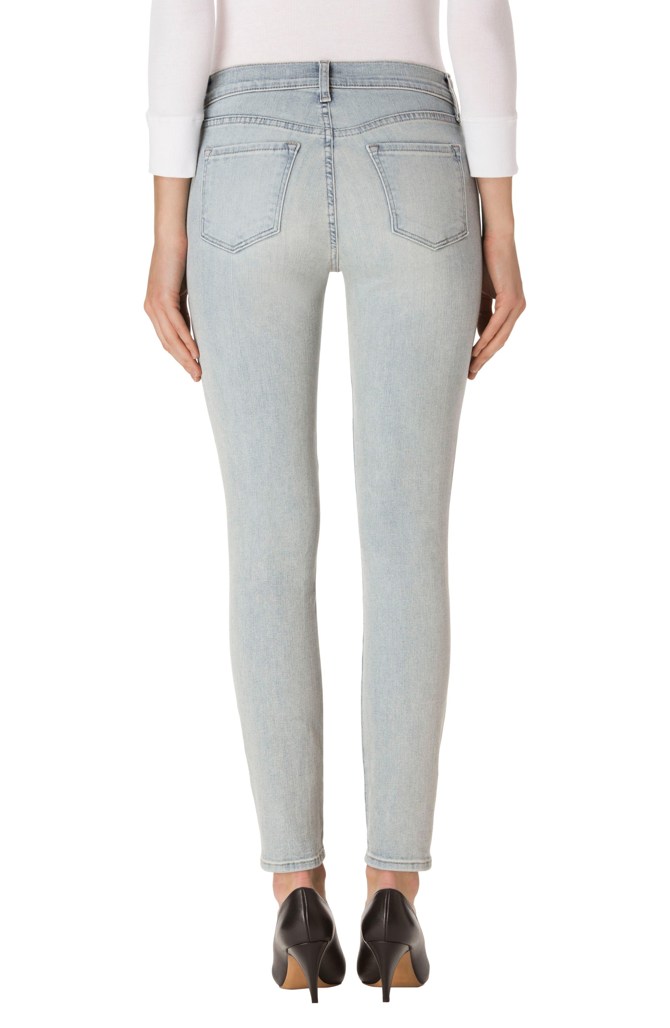 Maria High Waist Skinny Jeans,                             Alternate thumbnail 4, color,