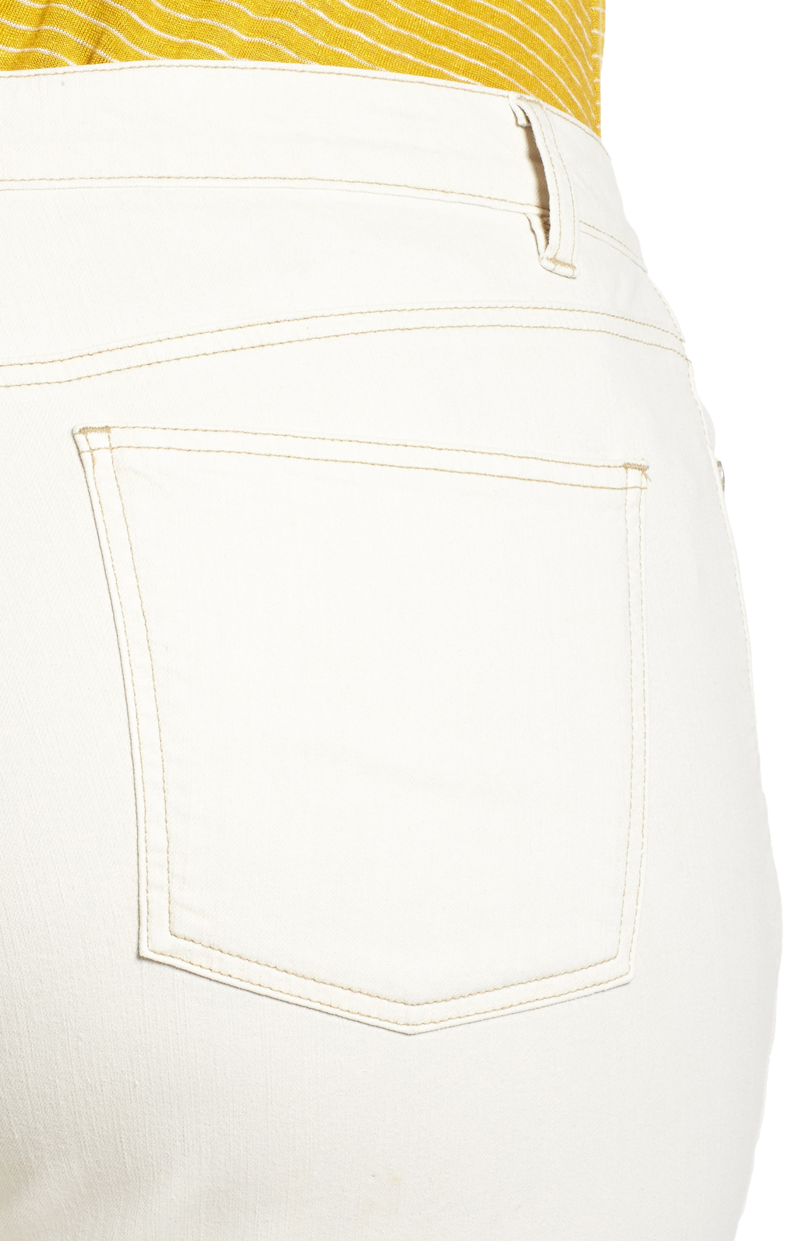 Stretch Organic Denim Crop Jeans,                             Alternate thumbnail 4, color,                             251