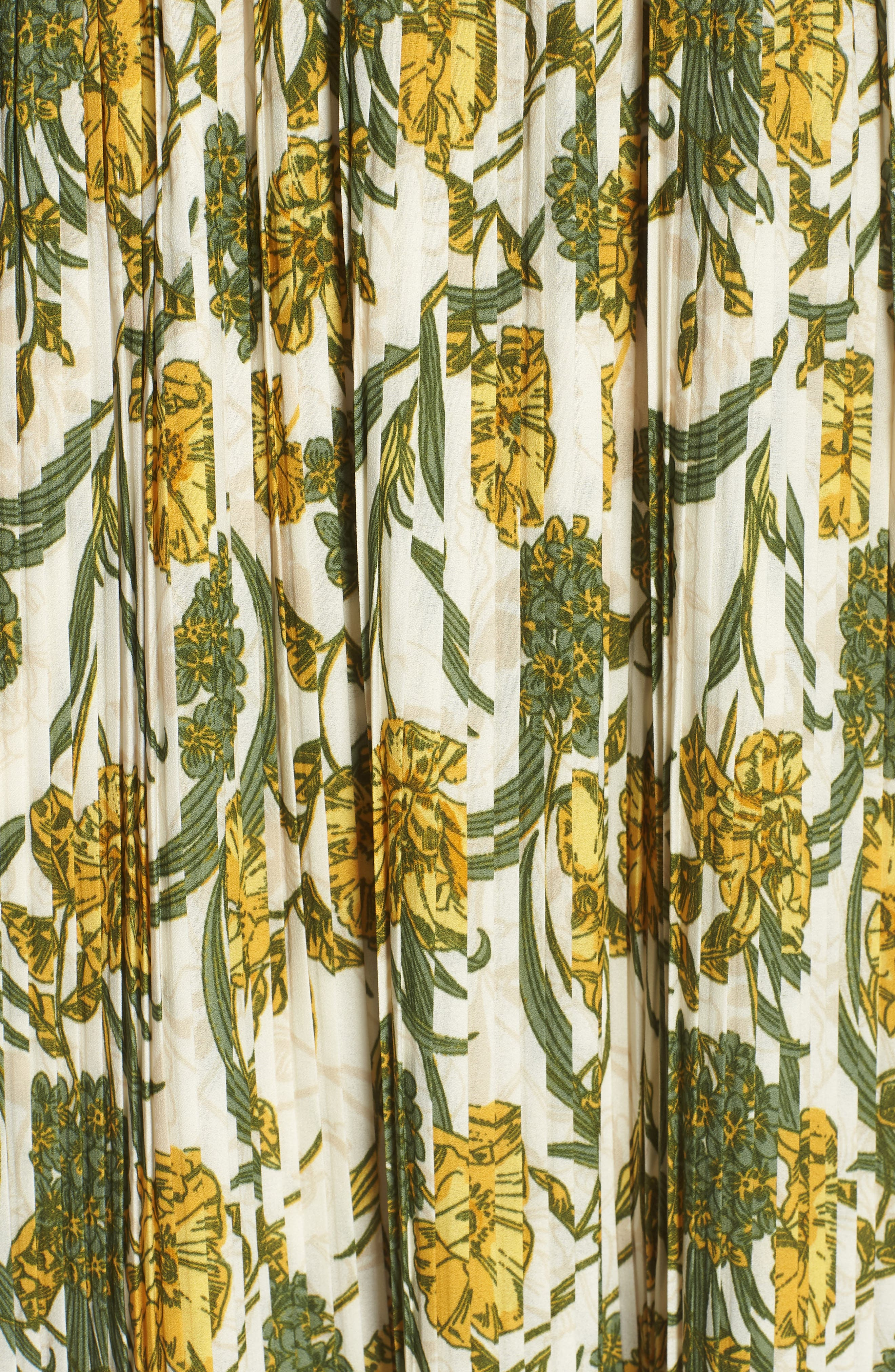 Pleated Midi Dress,                             Alternate thumbnail 5, color,                             900