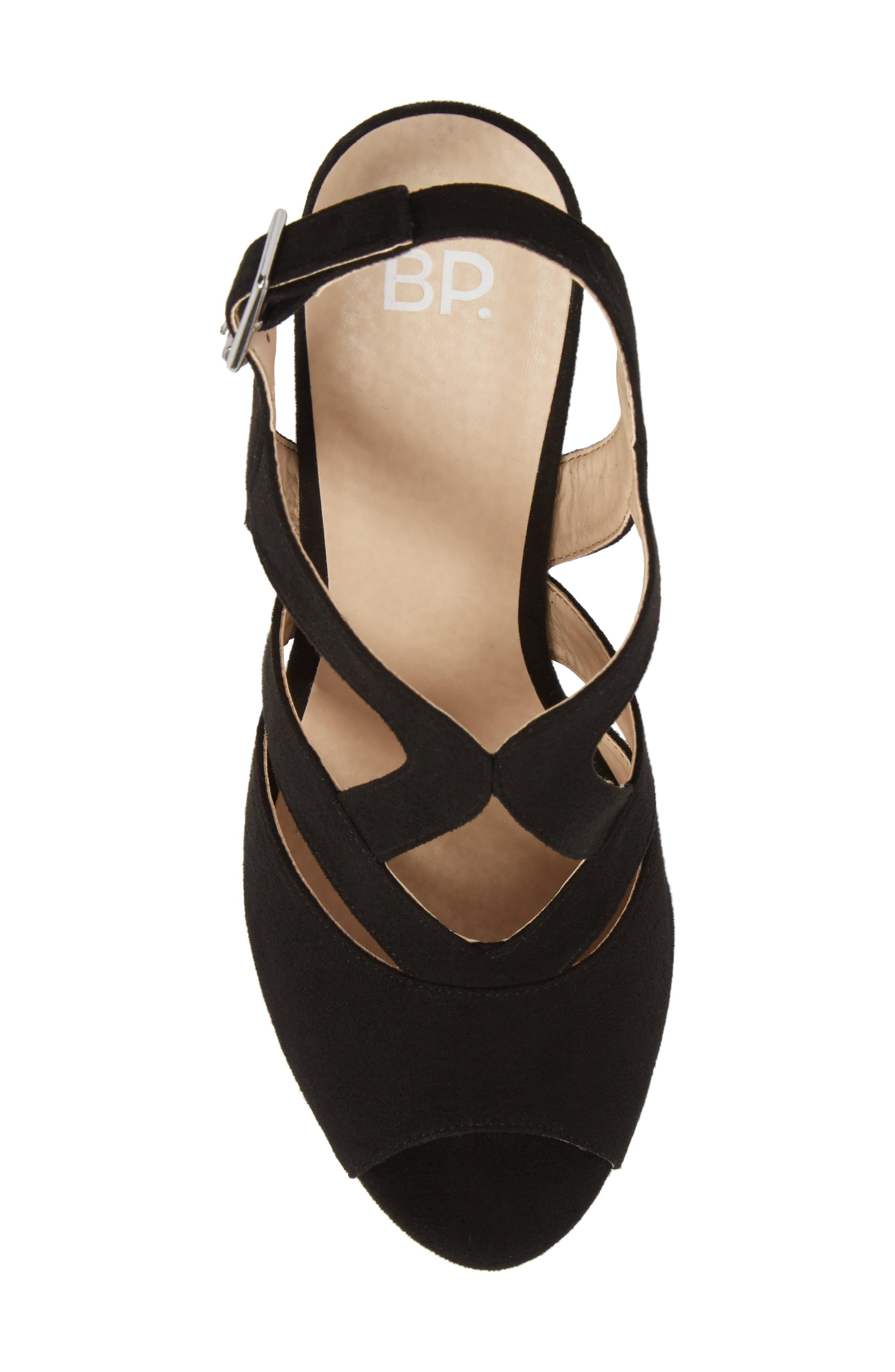 Sunny Platform Wedge Sandal,                             Alternate thumbnail 5, color,                             001