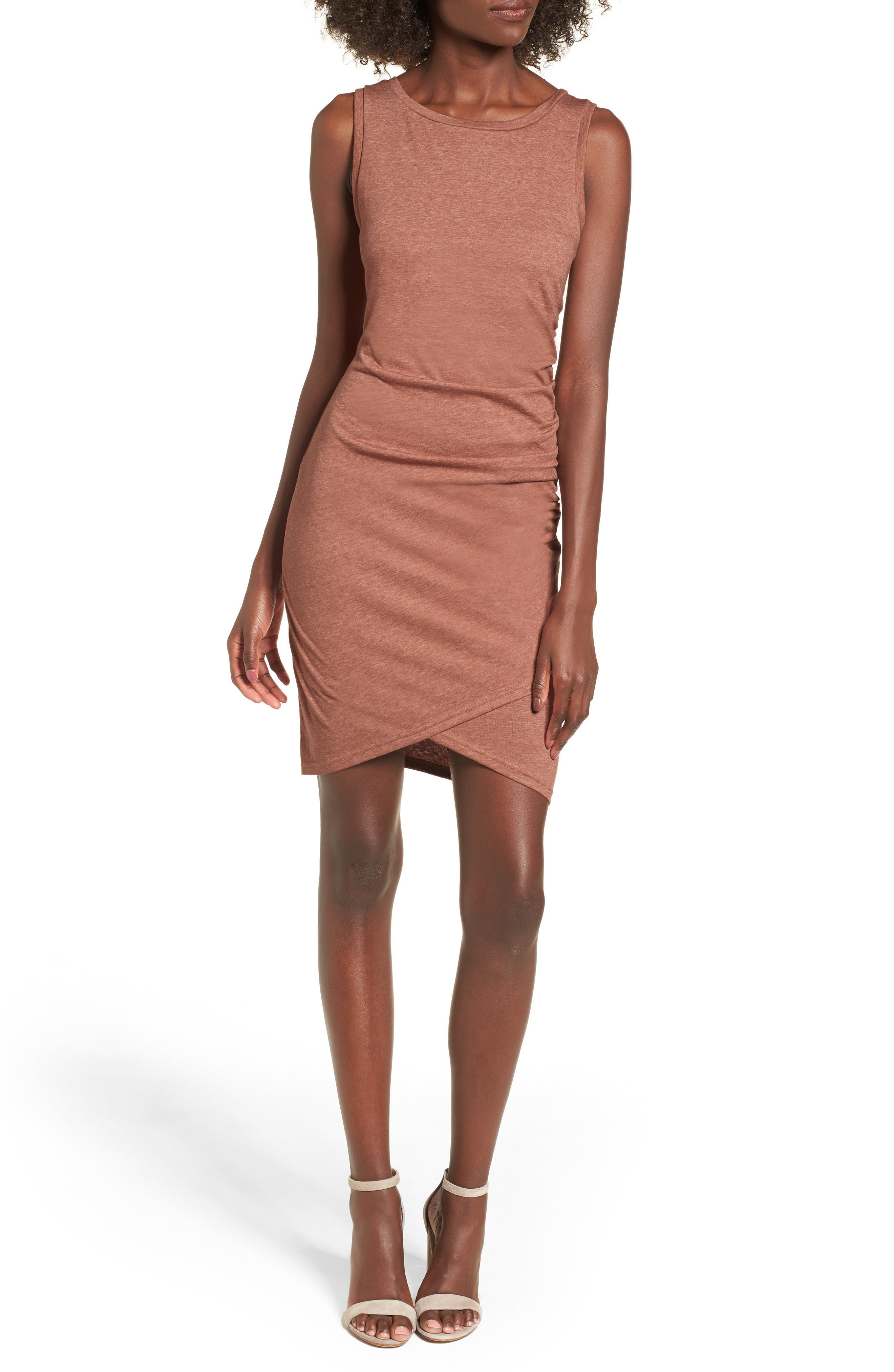 Ruched Body-Con Tank Dress,                             Main thumbnail 36, color,