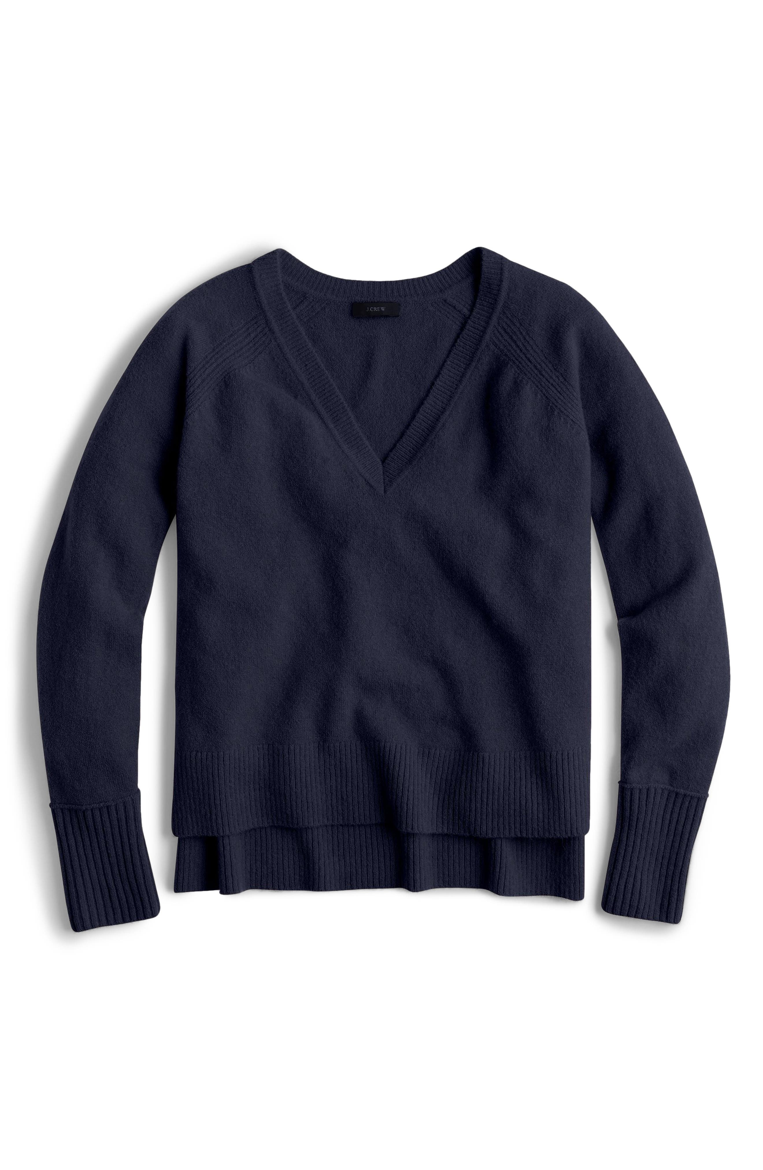Supersoft Yarn V-Neck Sweater,                             Main thumbnail 8, color,