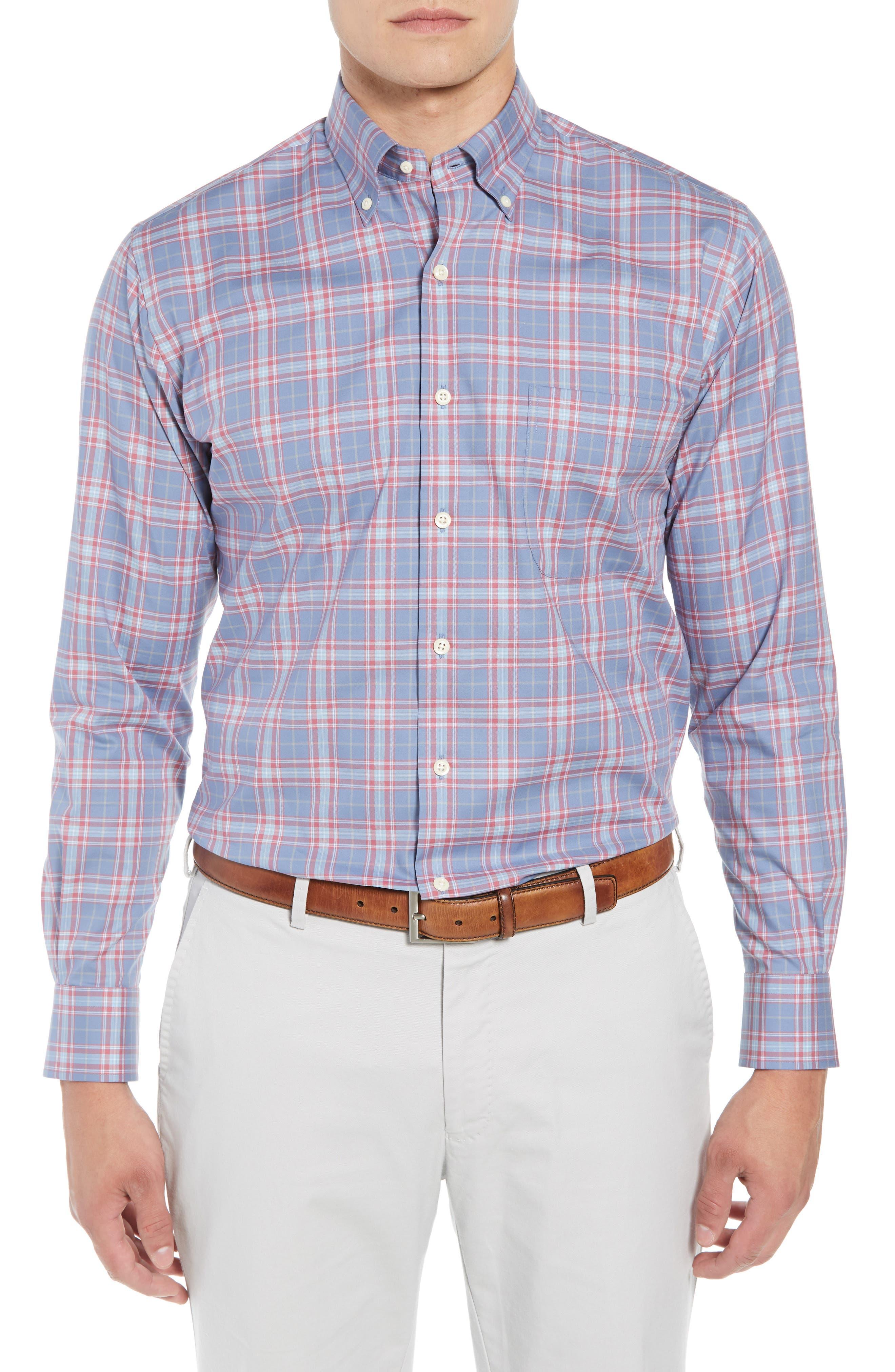 Crown Ease Archipelago Regular Fit Plaid Sport Shirt,                             Main thumbnail 1, color,                             524