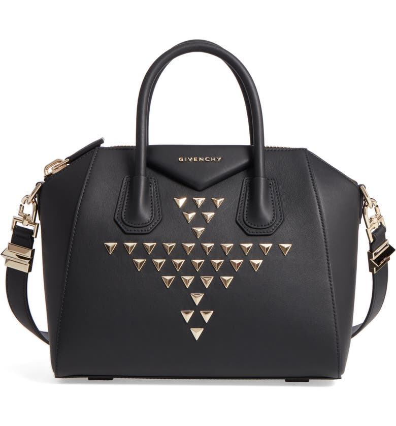 1b2e65672976 Givenchy Small Antigona Studded Calfskin Leather Satchel