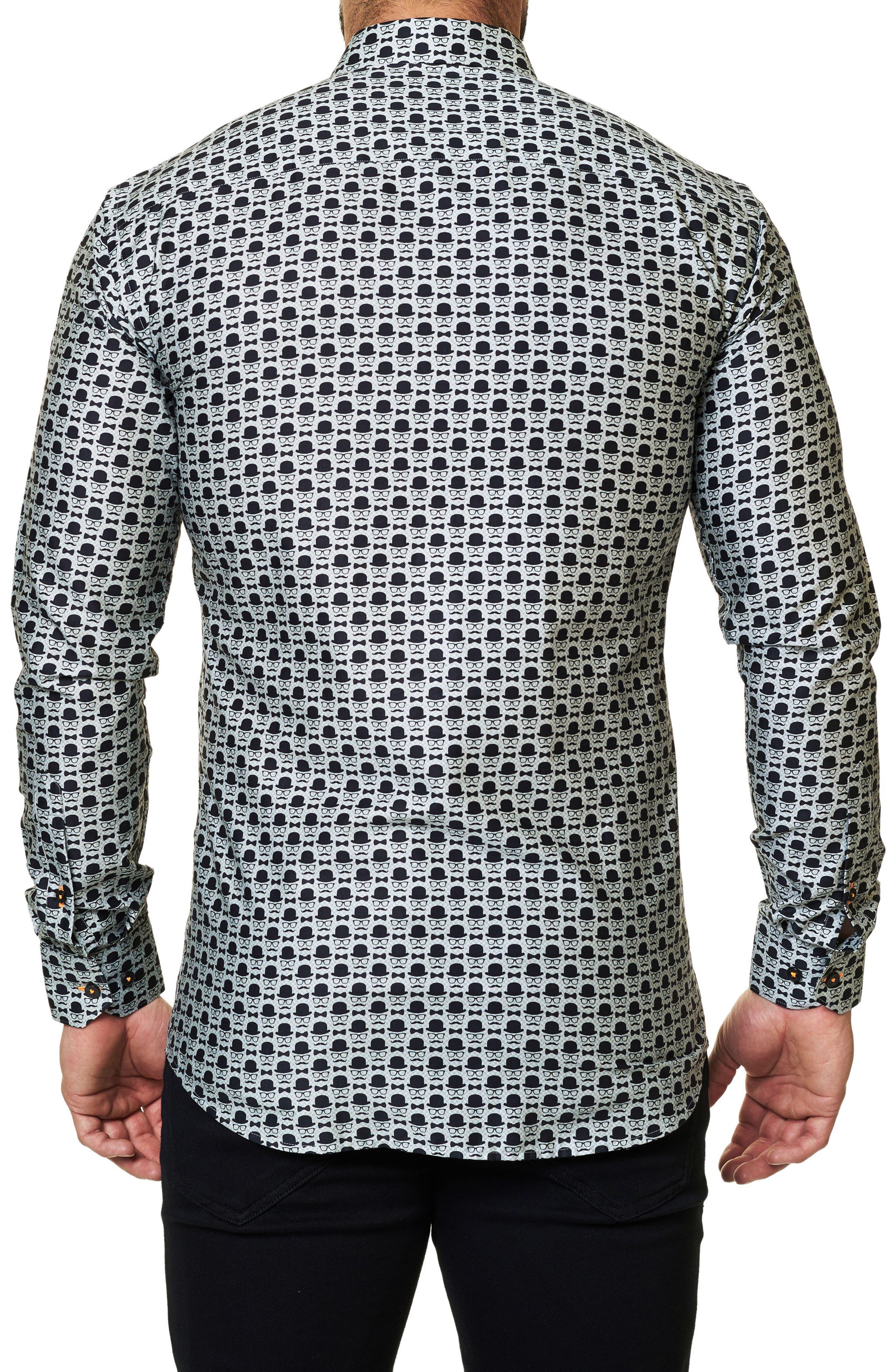 Regular Fit Print Sport Shirt,                             Alternate thumbnail 2, color,