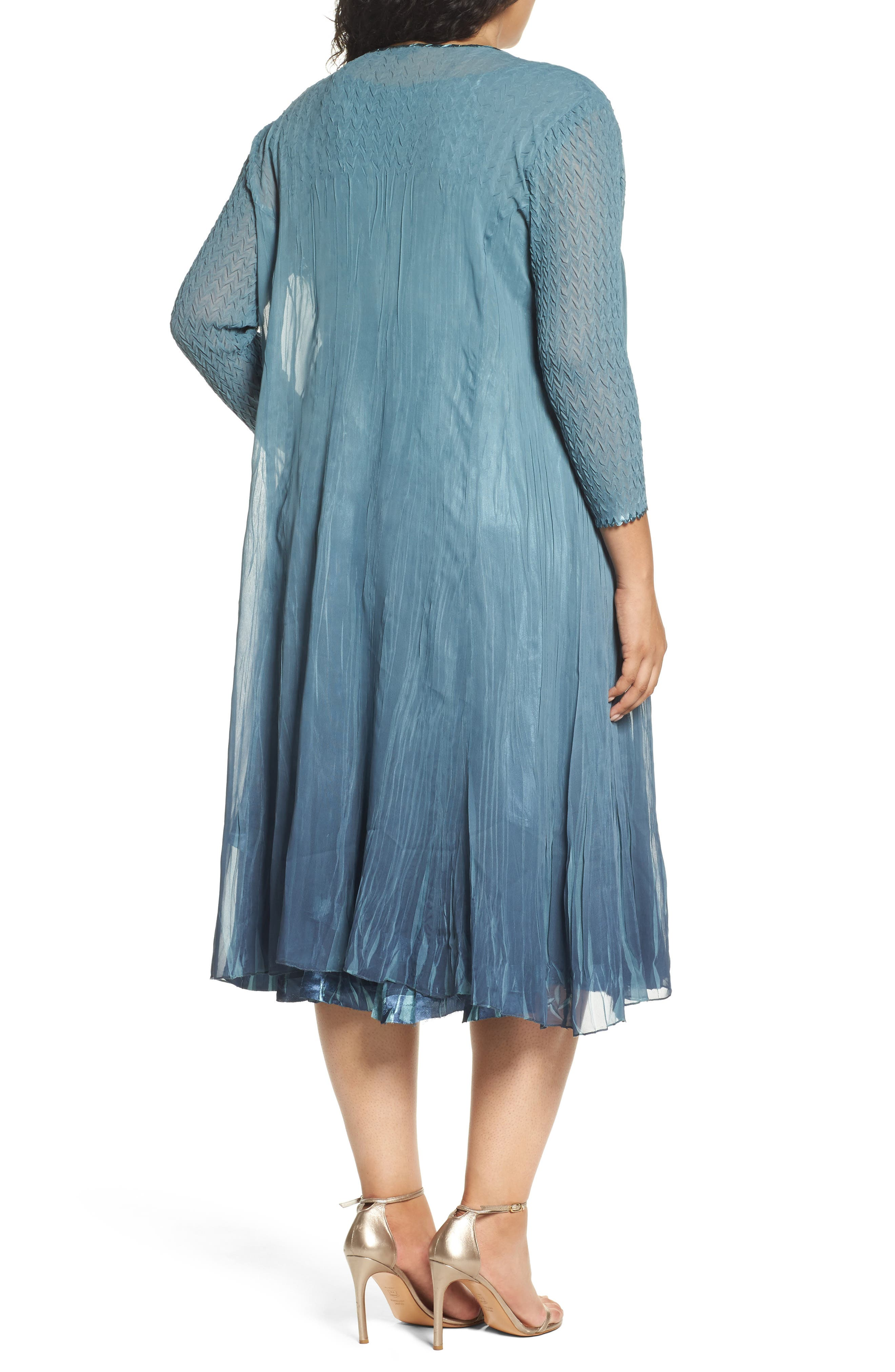 Tiered Dress with Jacket,                             Alternate thumbnail 2, color,                             405