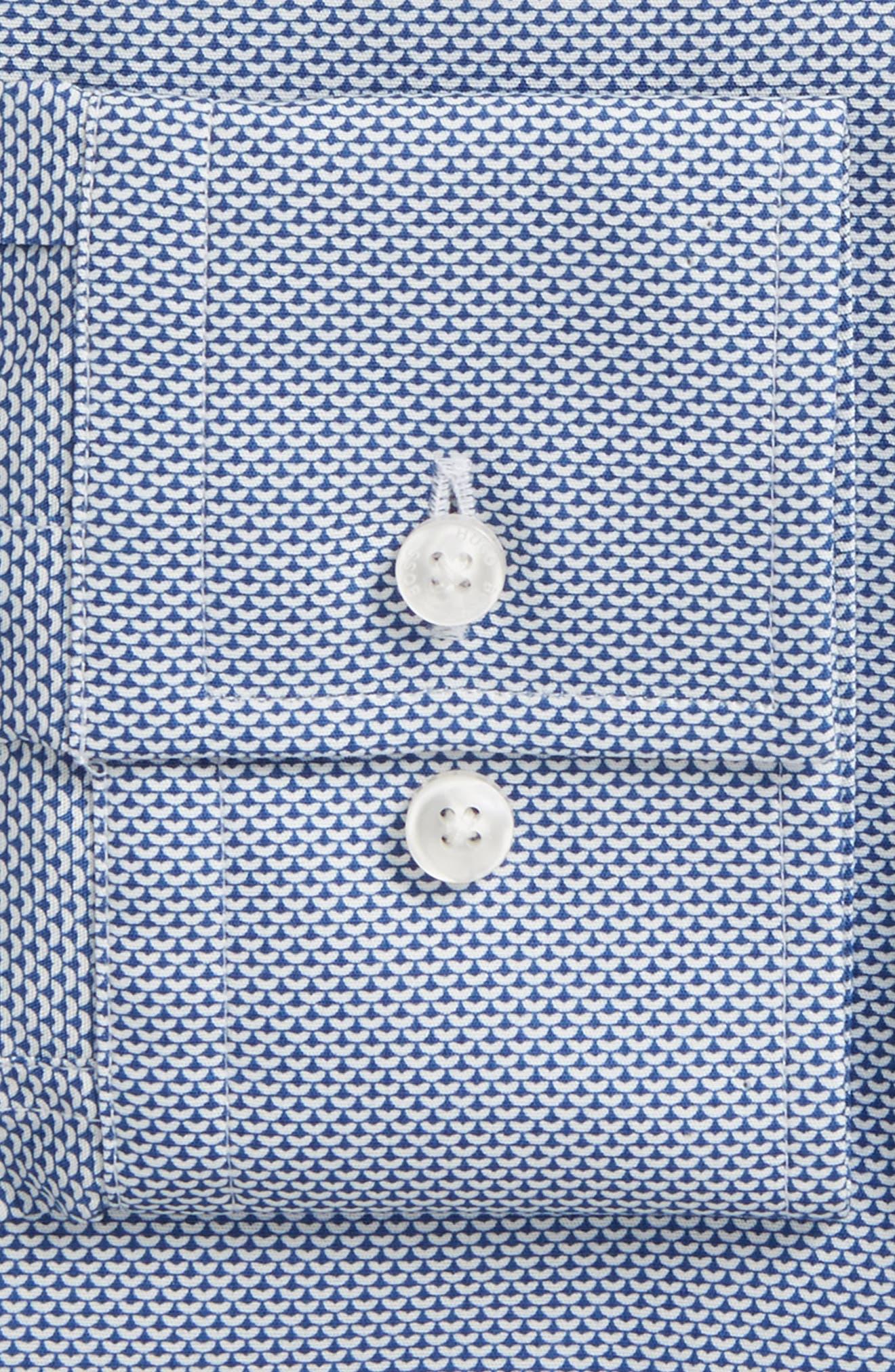 Jason Slim Fit Print Dress Shirt,                             Alternate thumbnail 2, color,
