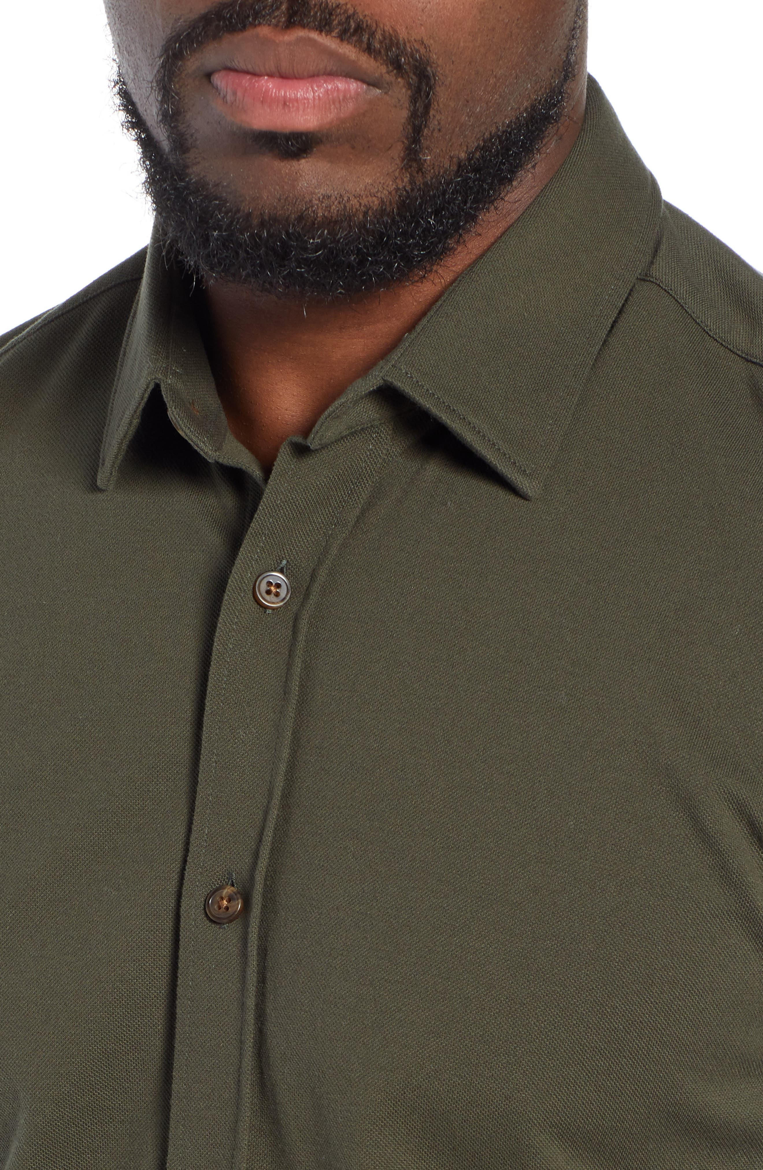 Ronni Slim Fit Solid Sport Shirt,                             Alternate thumbnail 2, color,                             GREEN