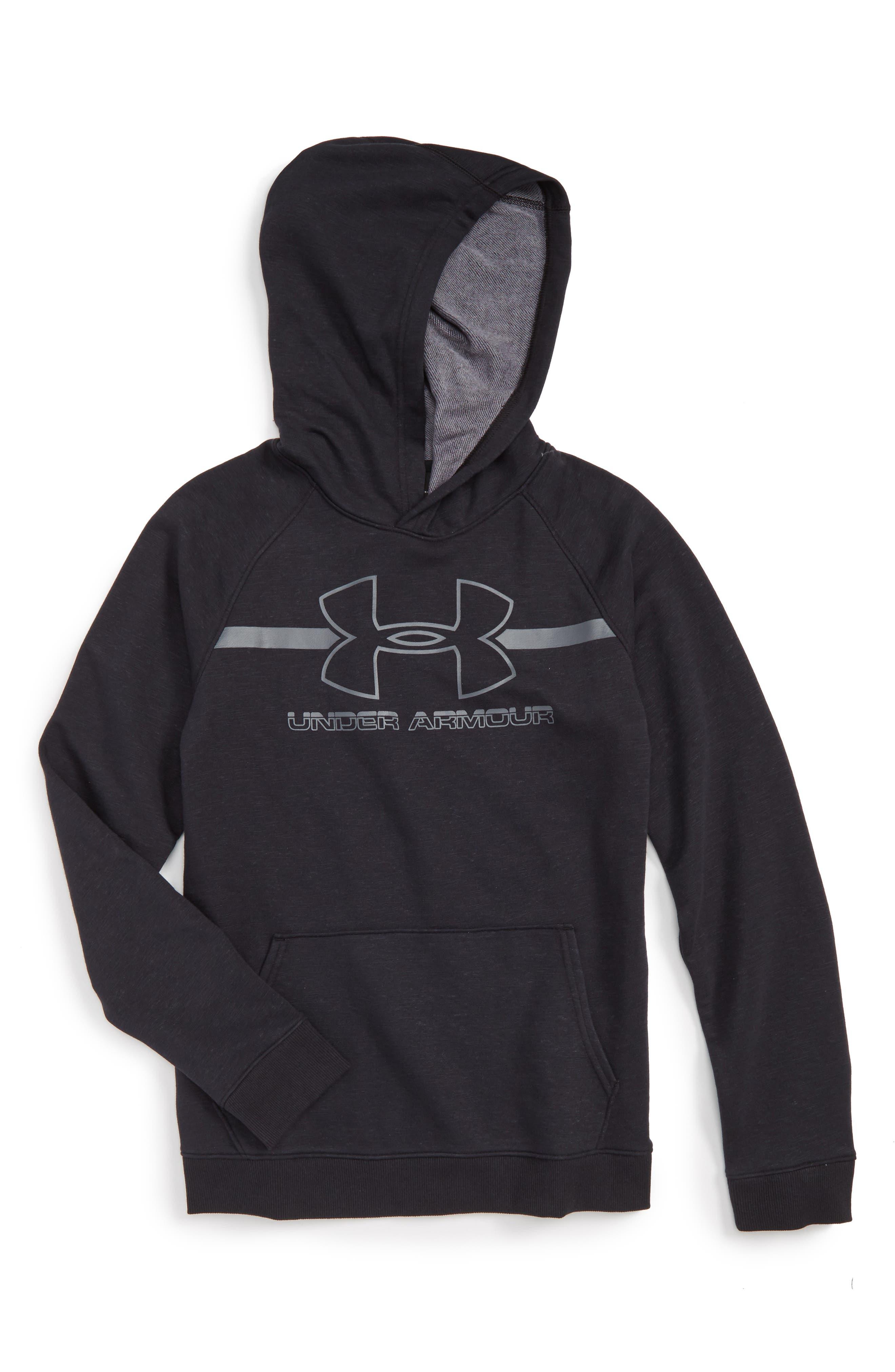 Logo Hooded Sweatshirt,                         Main,                         color, 001