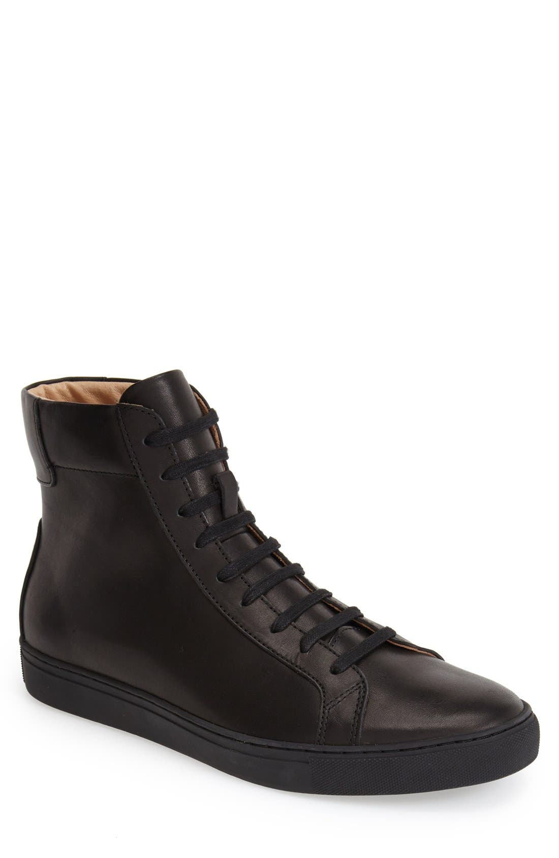 TCG 'Logan' Leather Sneaker, Main, color, 001
