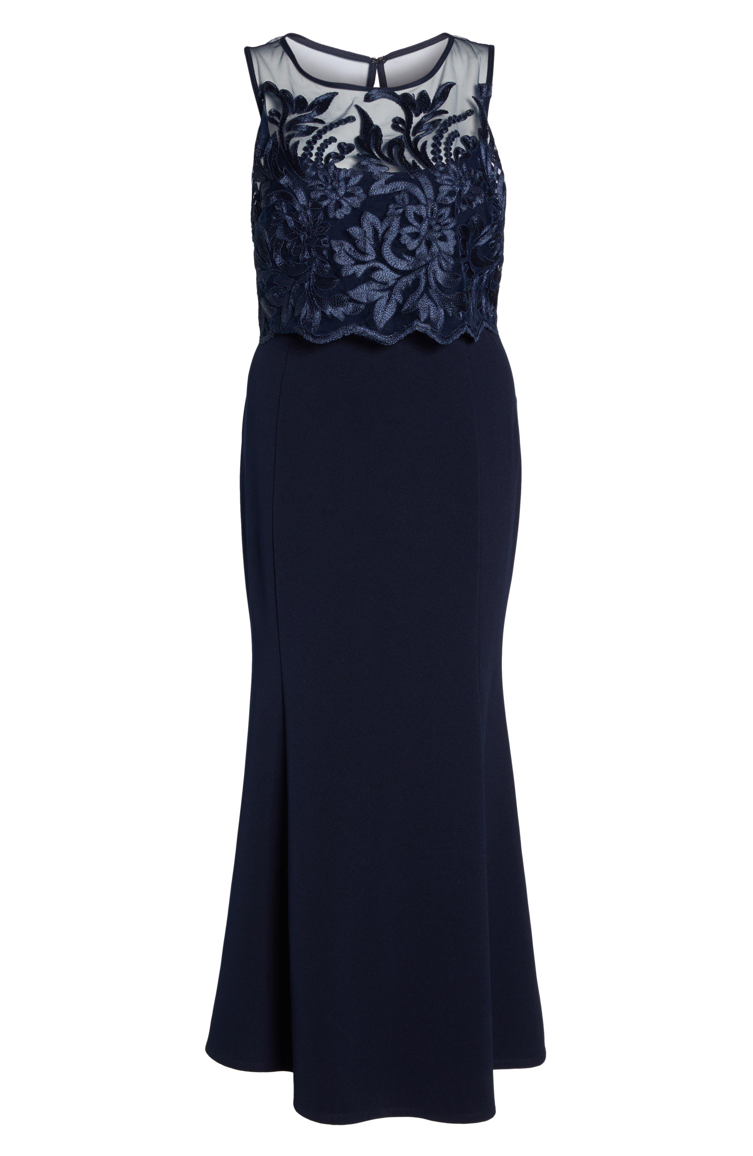 Popover Lace Gown,                             Alternate thumbnail 6, color,                             410