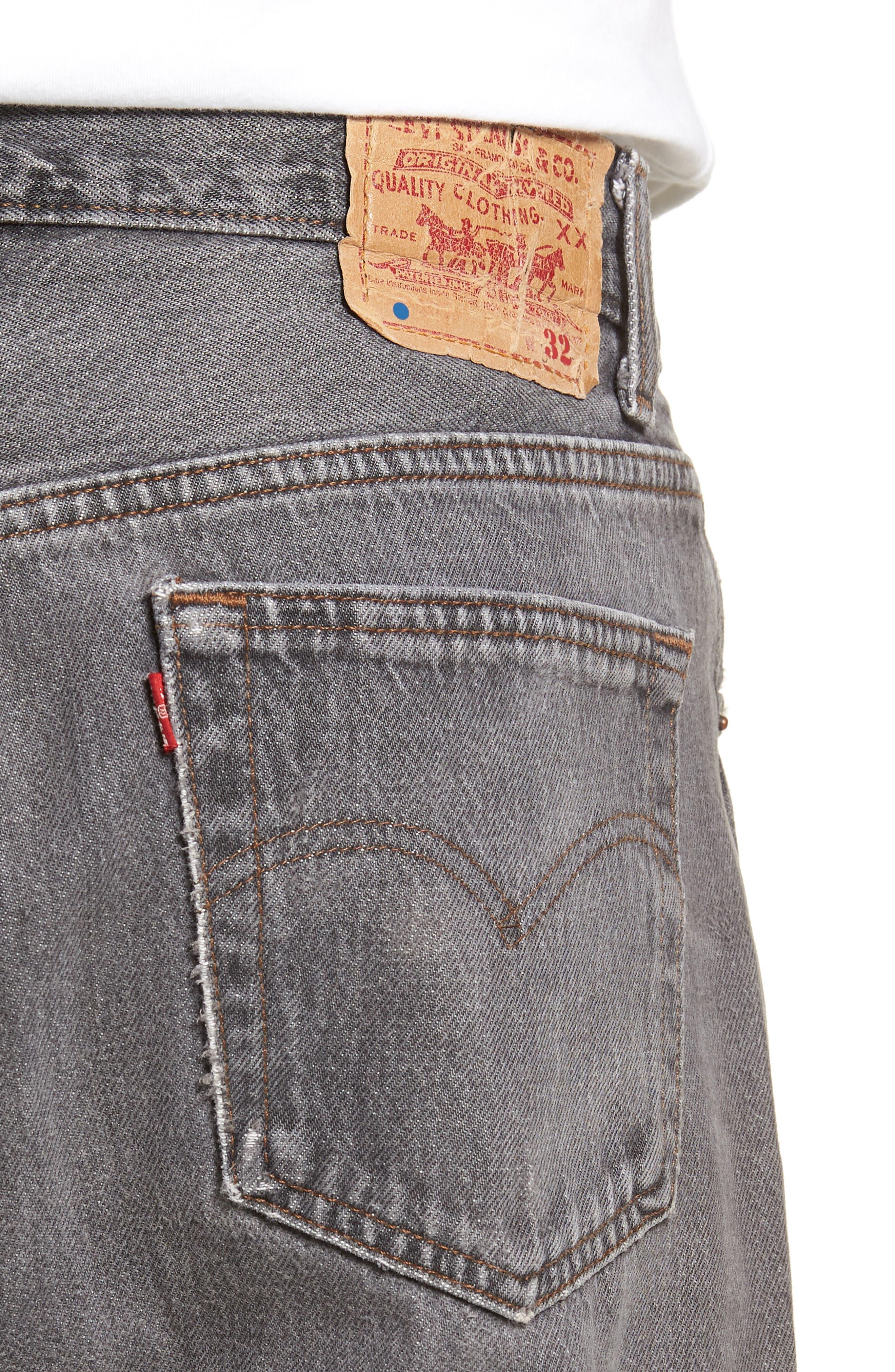 LEVI'S<SUP>®</SUP>,                             Authorized Vintage 501<sup>™</sup> Original Fit Jeans,                             Alternate thumbnail 4, color,                             AV BLACK