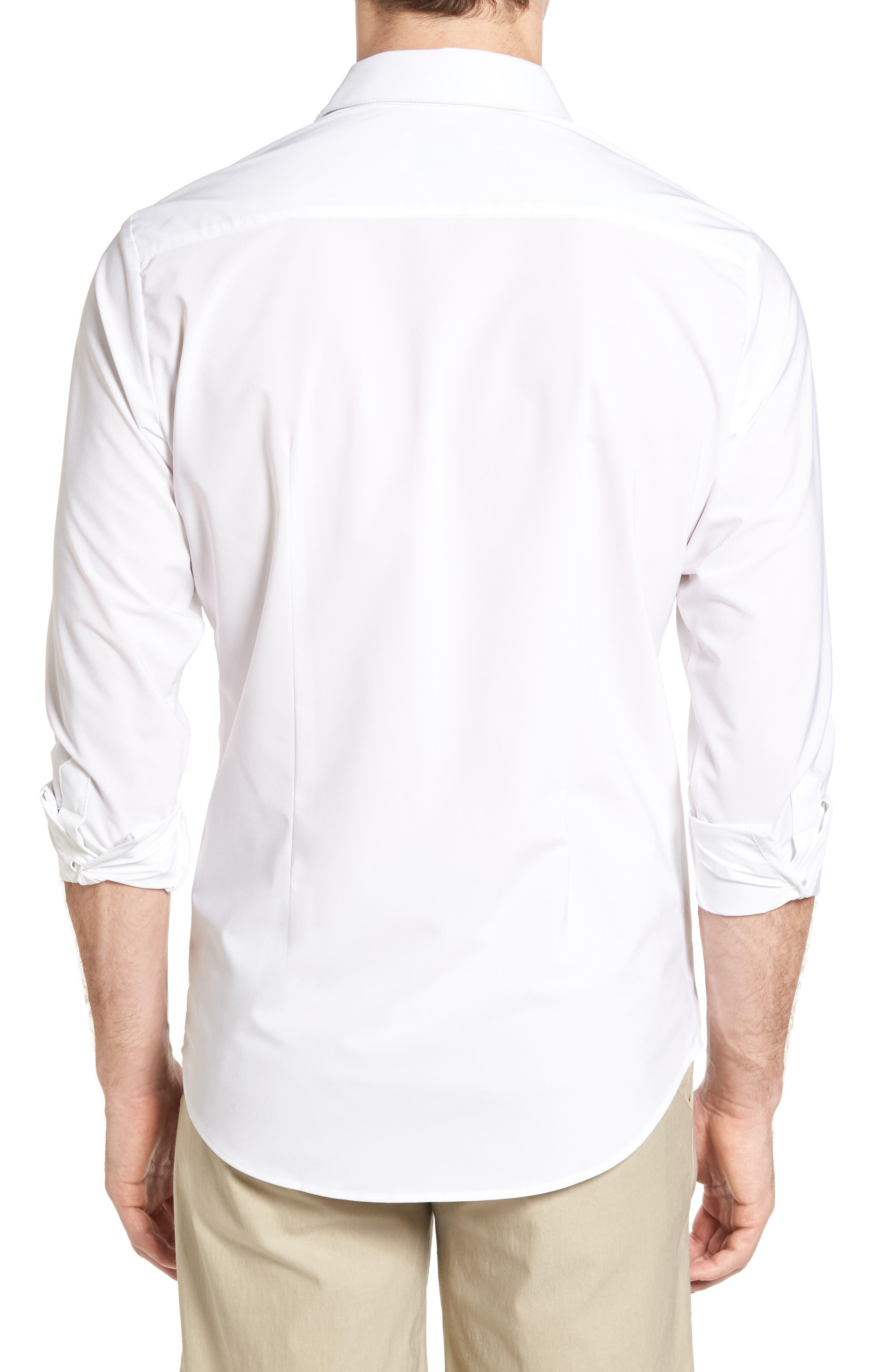 Manhattan Sport Shirt,                             Alternate thumbnail 2, color,                             WHITE