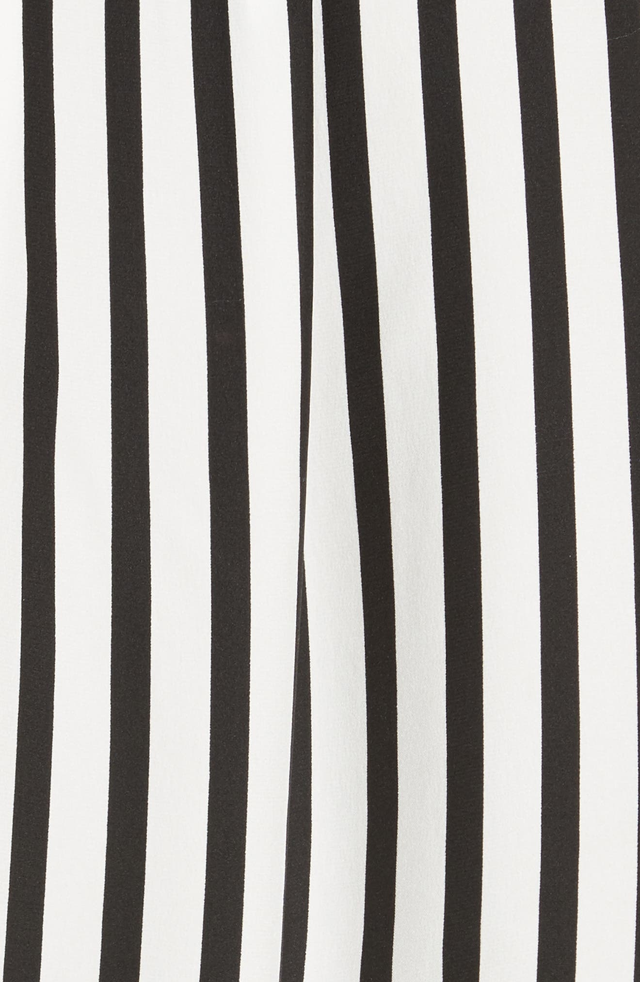 Stripe Silk Shirt,                             Alternate thumbnail 5, color,                             006