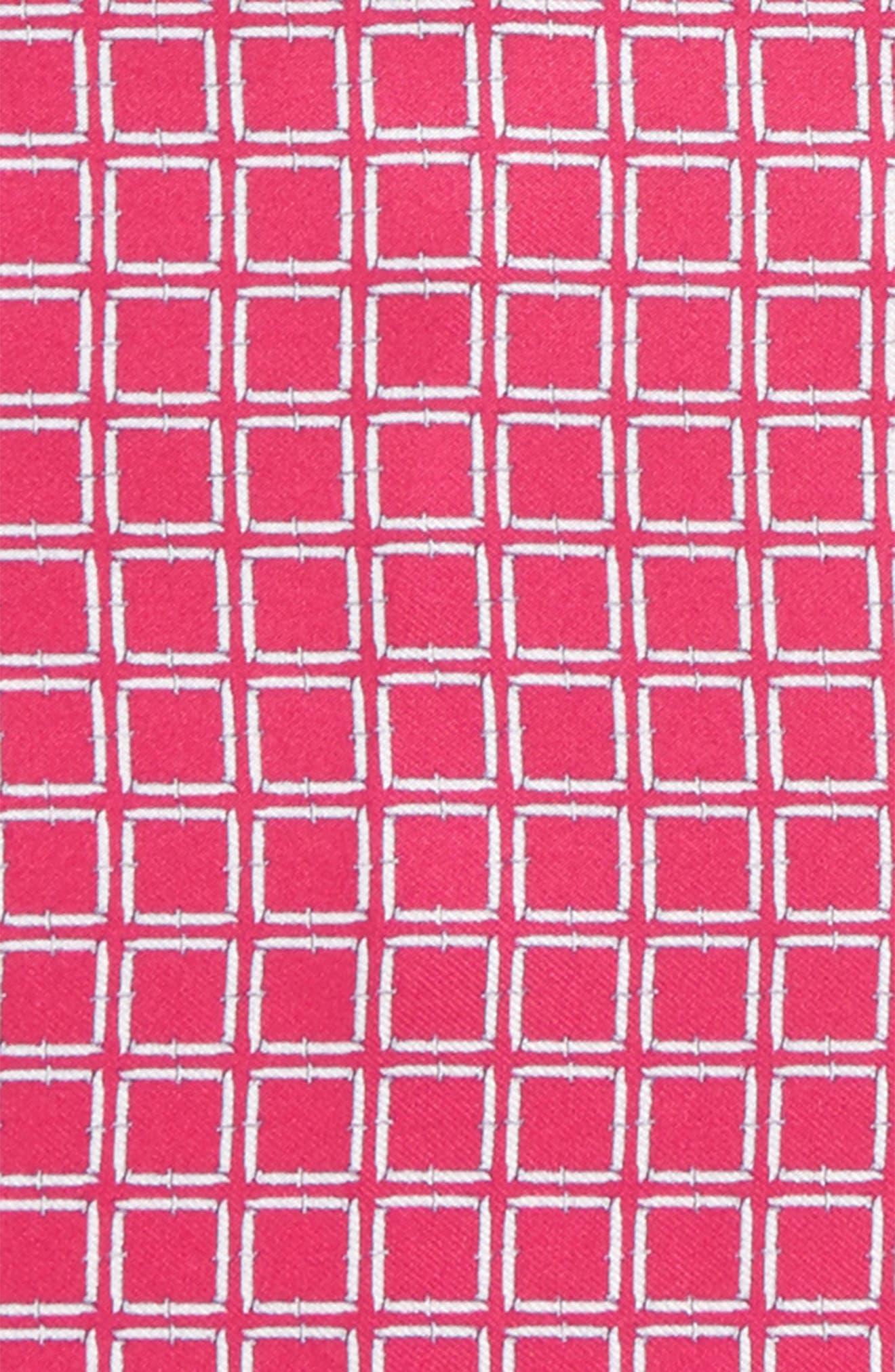 Jack the Knife Silk Pocket Square,                             Alternate thumbnail 3, color,                             PINK