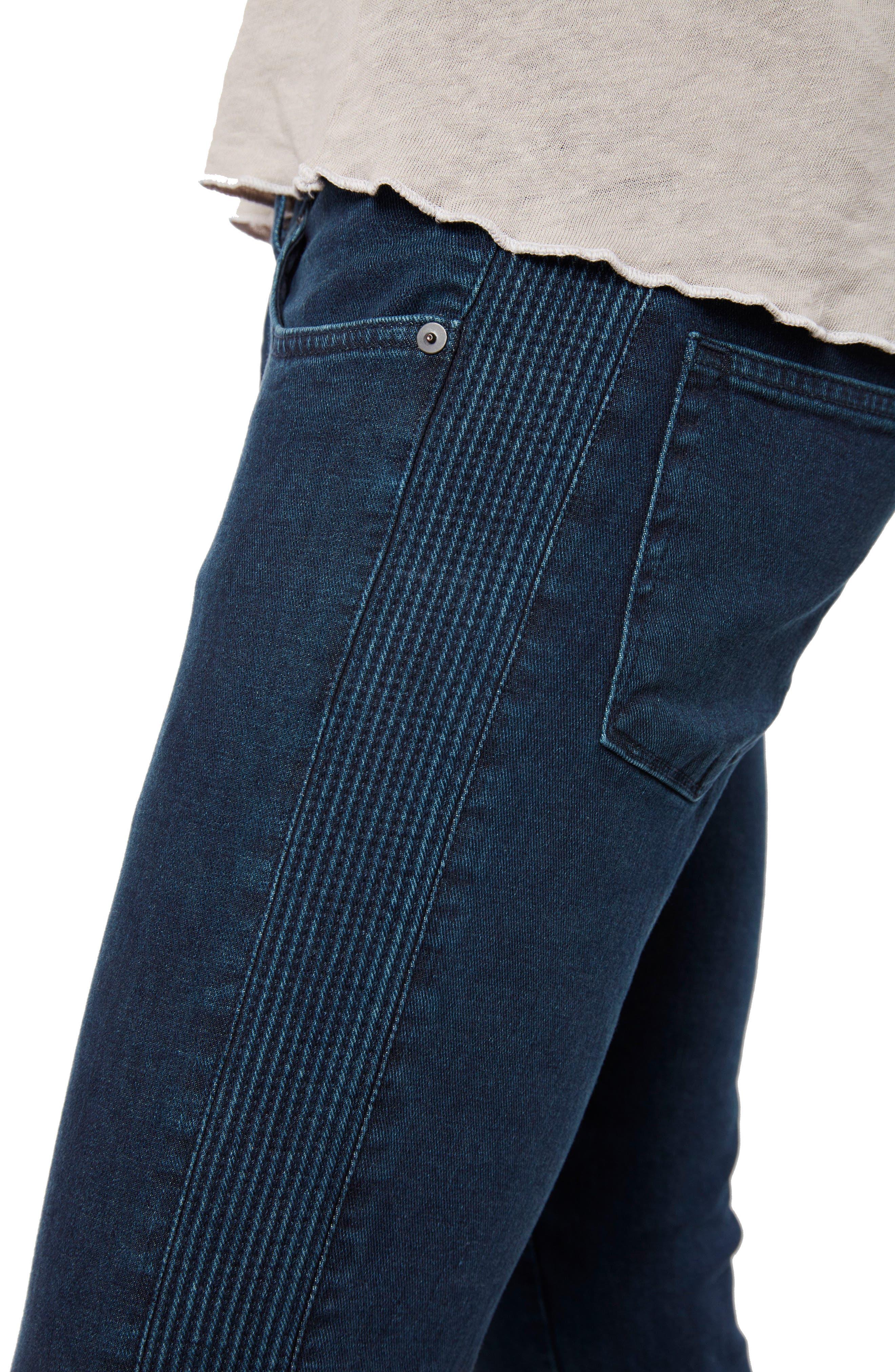 Moto Skinny Fit Jeans,                             Alternate thumbnail 4, color,                             403