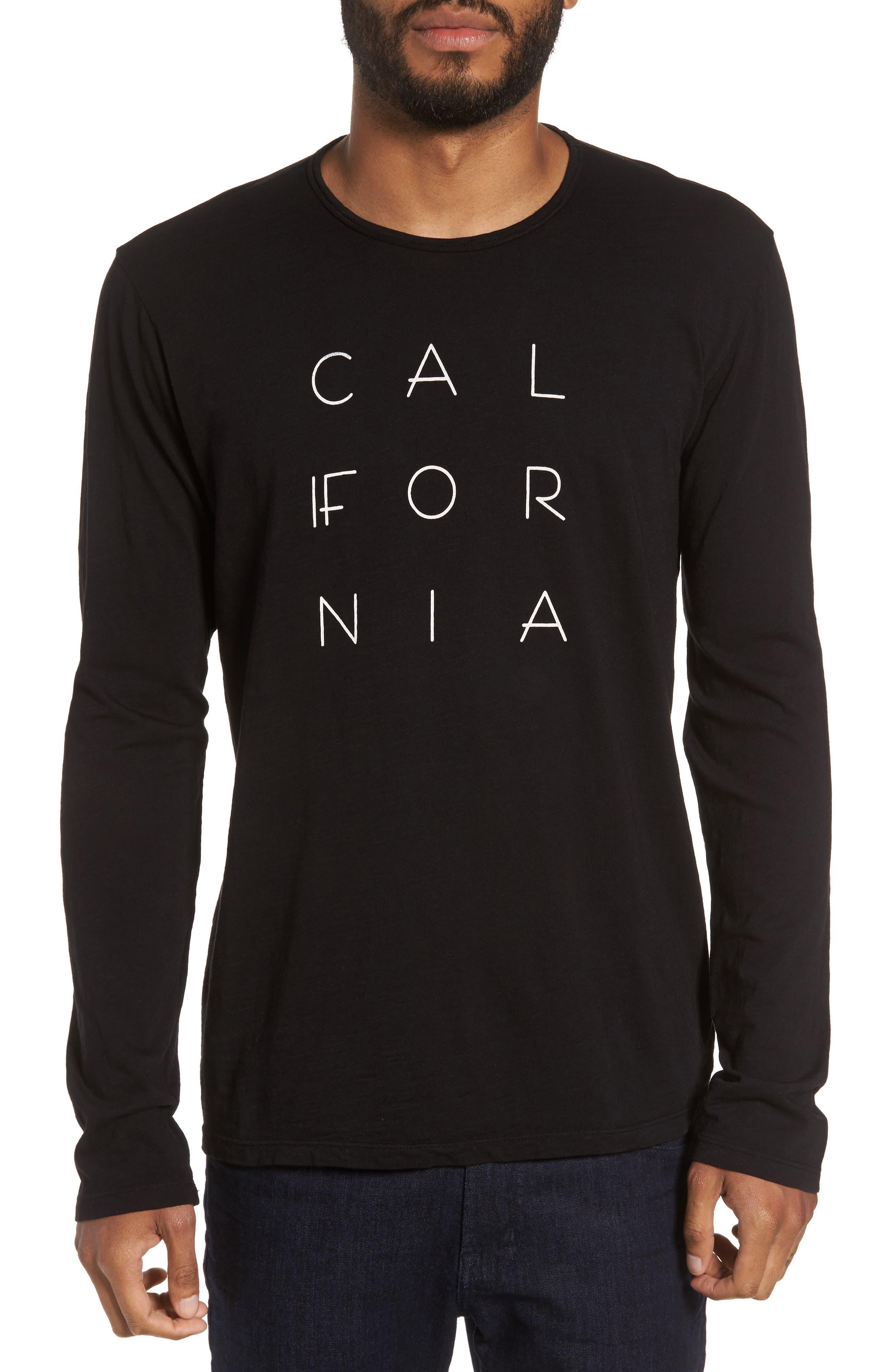 California Graphic Long-Sleeve T-Shirt,                         Main,                         color, 001