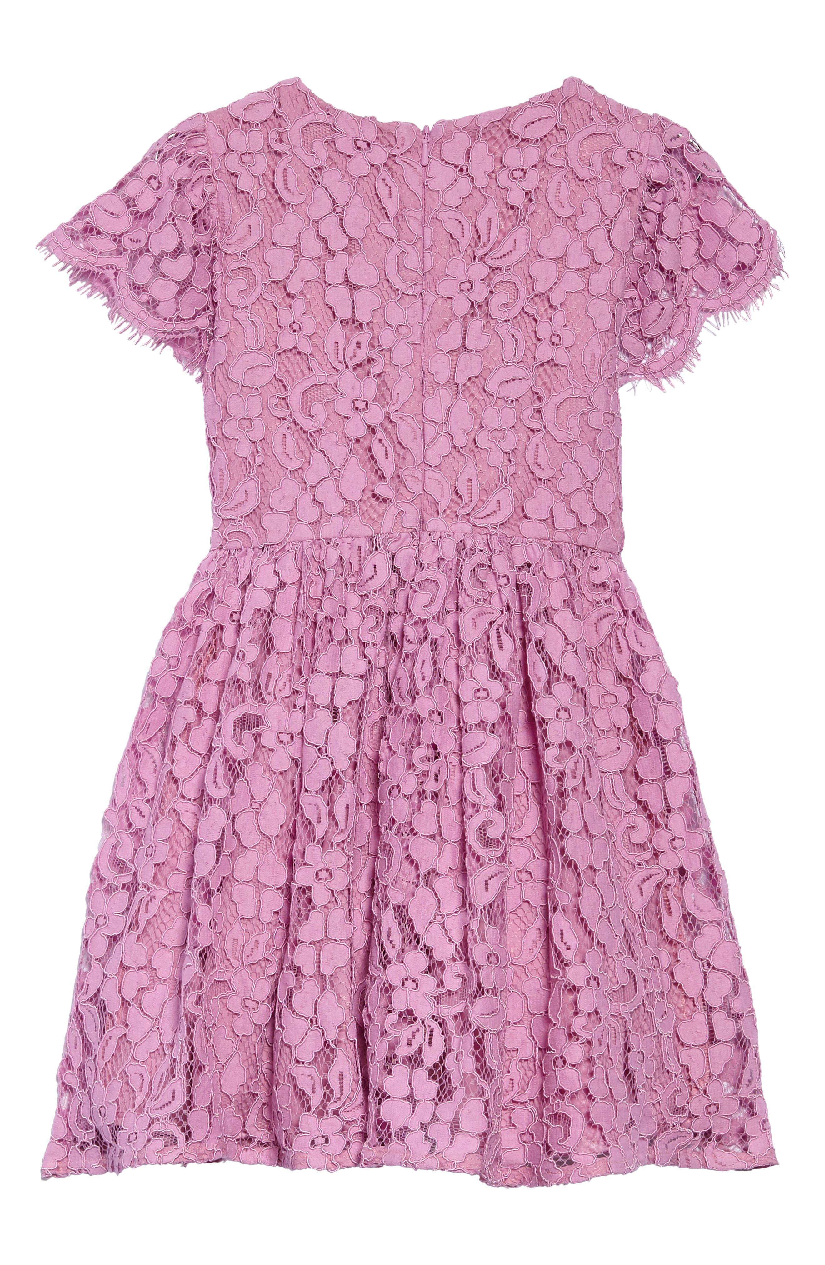 Sienna Floral Lace Dress,                             Alternate thumbnail 2, color,                             650