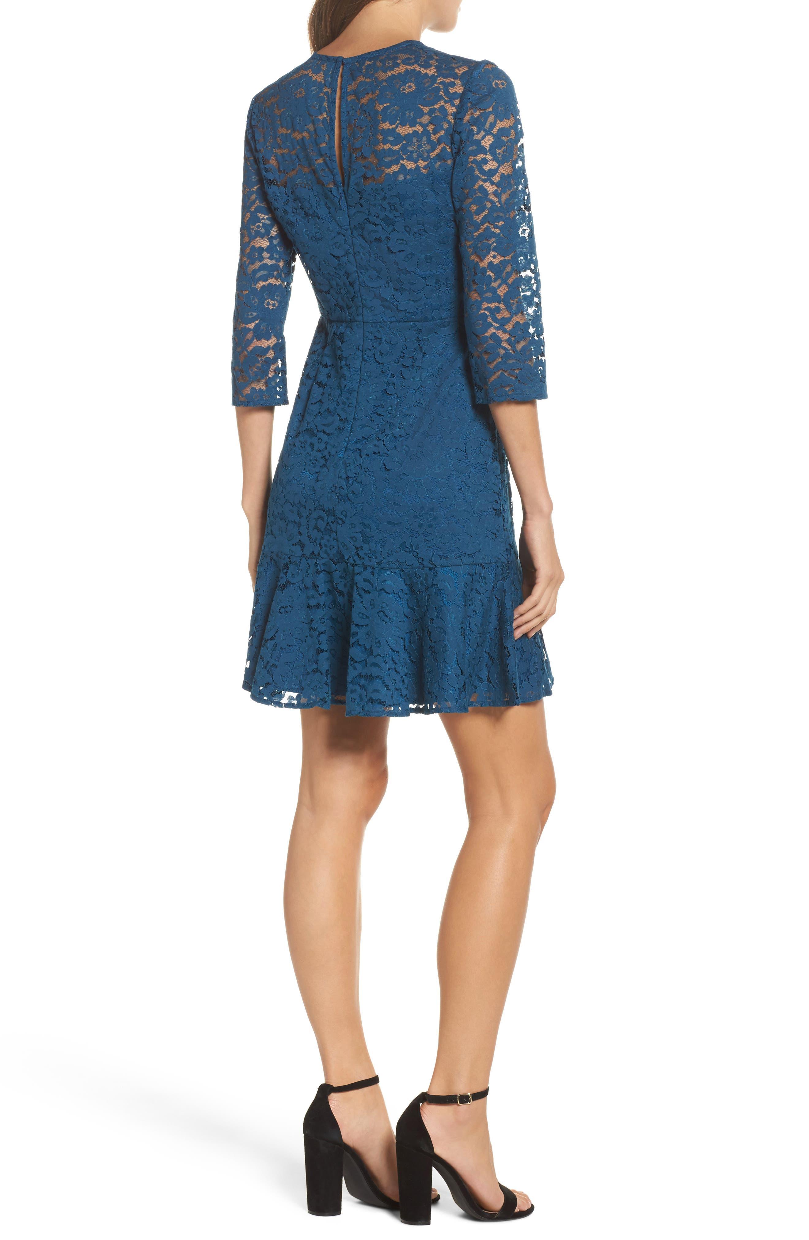 Stanley Lace Fit & Flare Dress,                             Alternate thumbnail 2, color,                             412