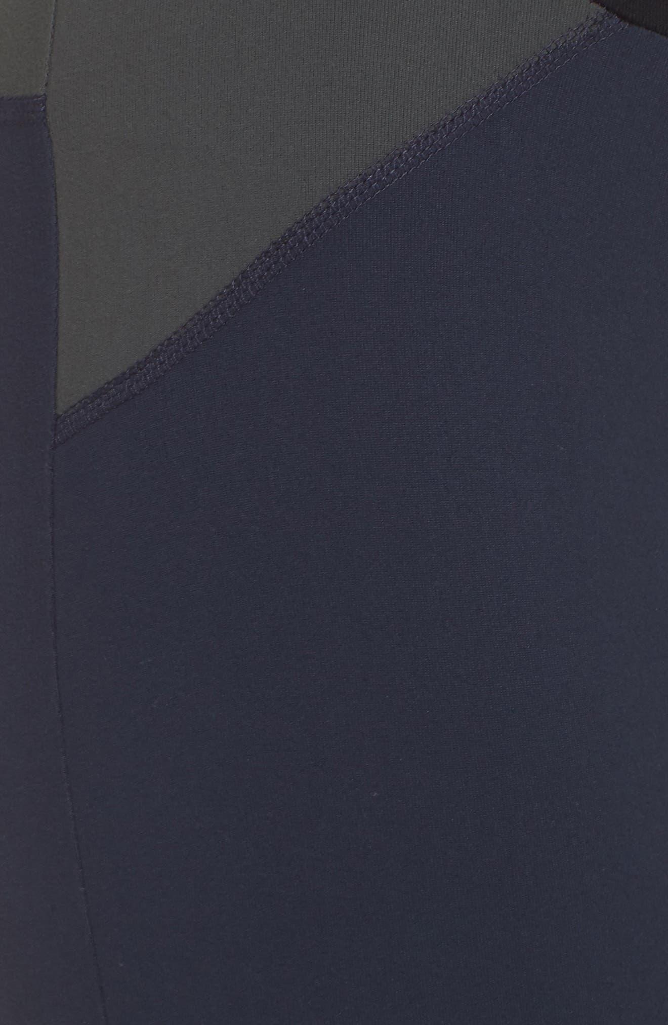 BoomBoom Athletica Brushed Tricolor Panel Leggings,                             Alternate thumbnail 6, color,                             NAVY/ BLACK/ GREEN