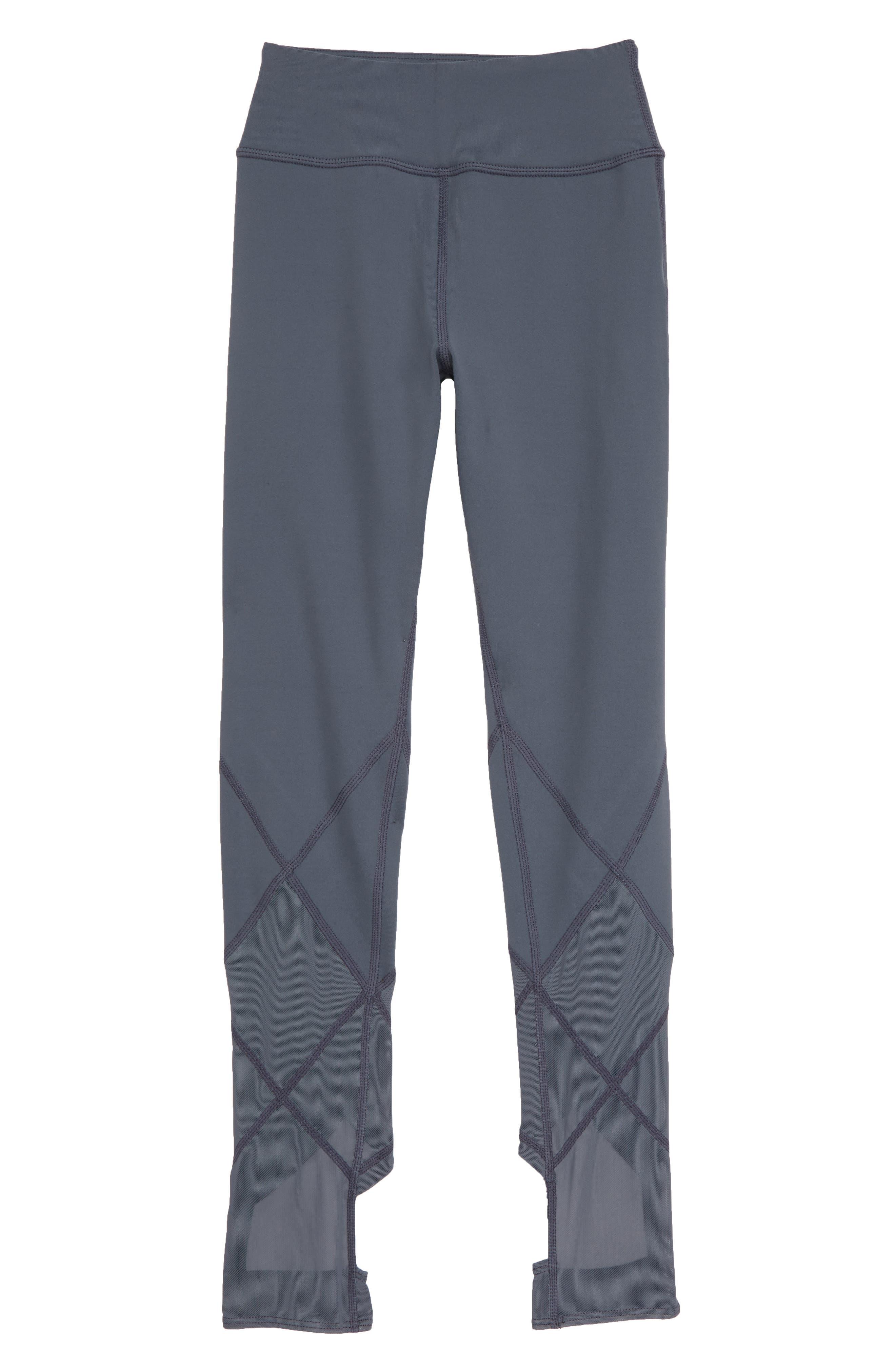 High Waist Diamond Leggings,                         Main,                         color, GREY GRAPHITE