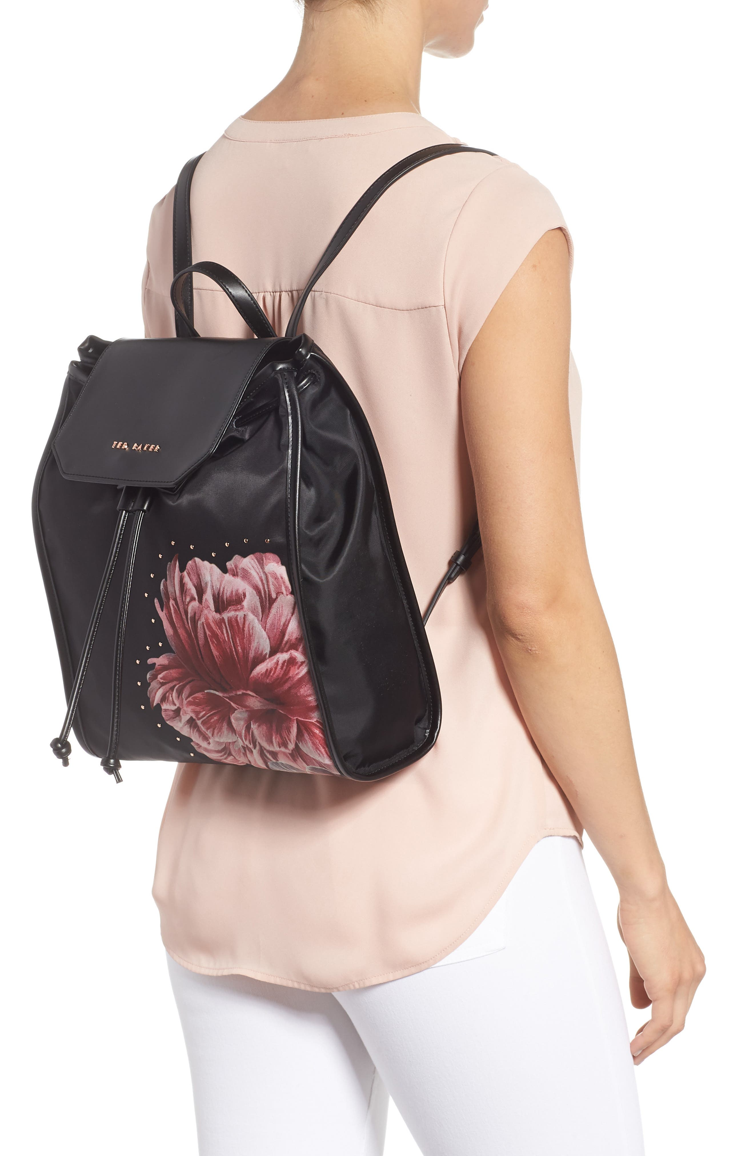 Iberiis Tranquility Print Backpack,                             Alternate thumbnail 2, color,                             001