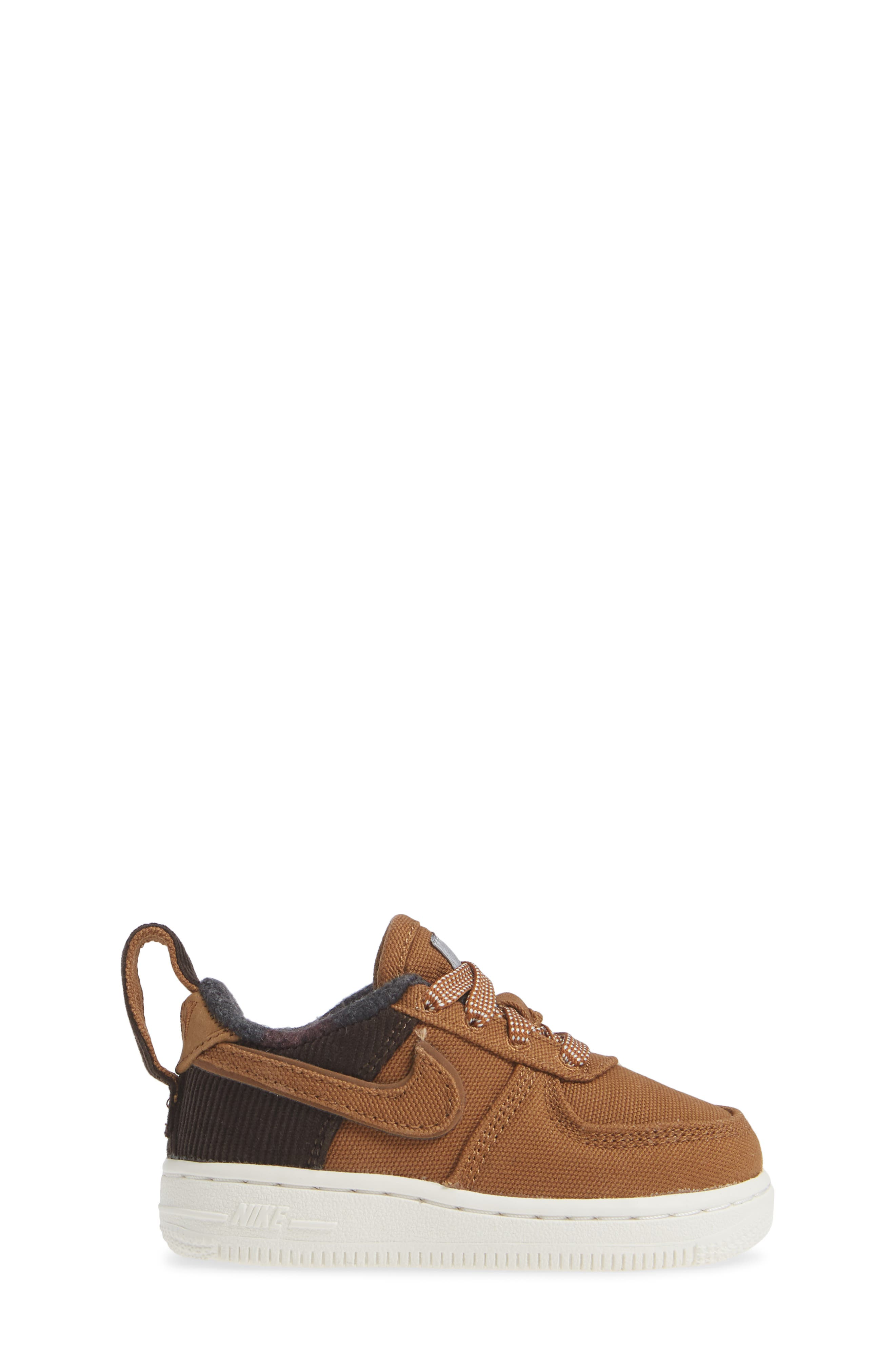 x Carhartt Air Force 1 Premium Sneaker,                             Alternate thumbnail 3, color,                             ALE BROWN/ ALE BROWN-SAIL