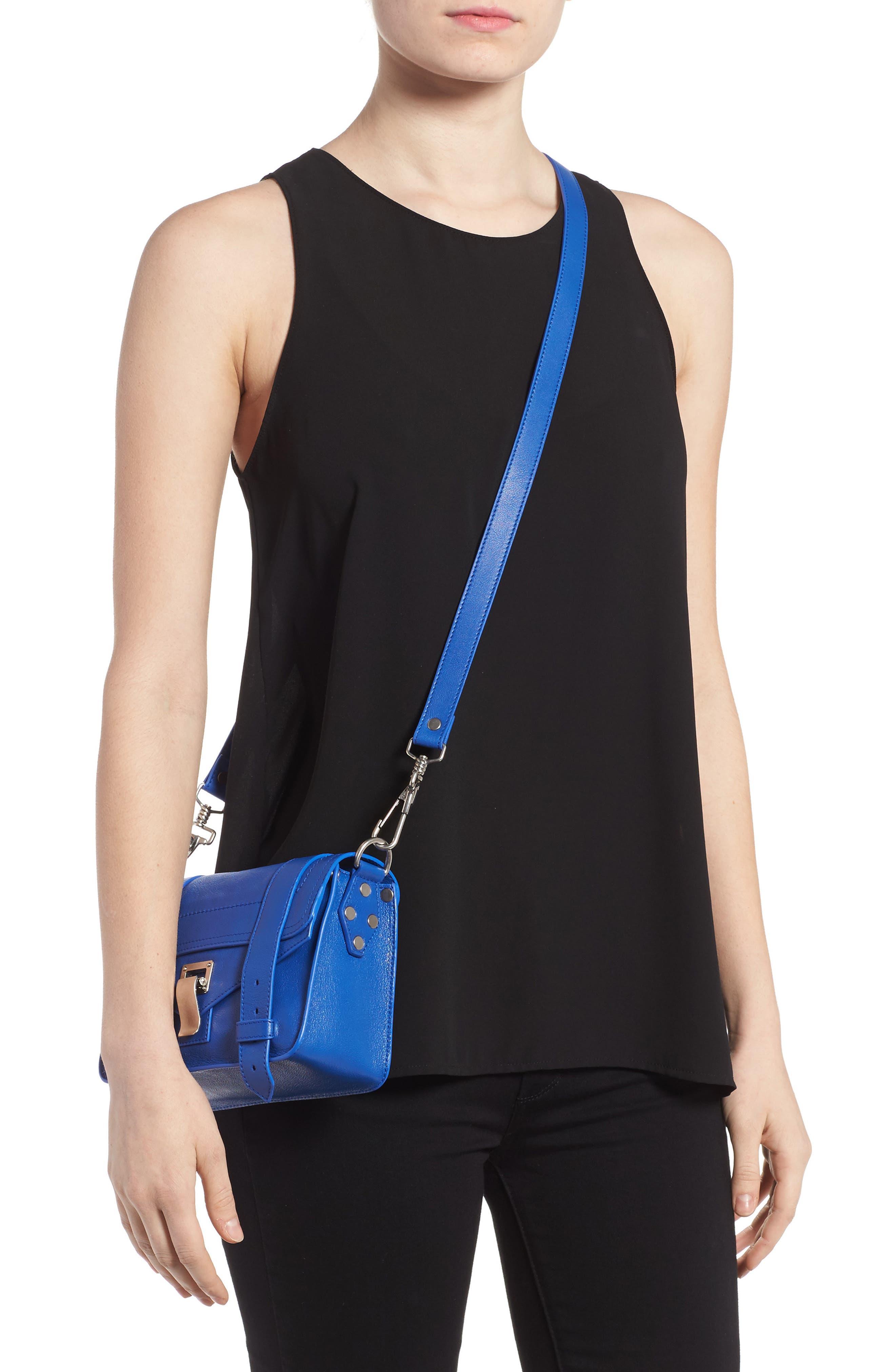 'Mini PS1' Lambskin Leather Crossbody Bag,                             Alternate thumbnail 7, color,