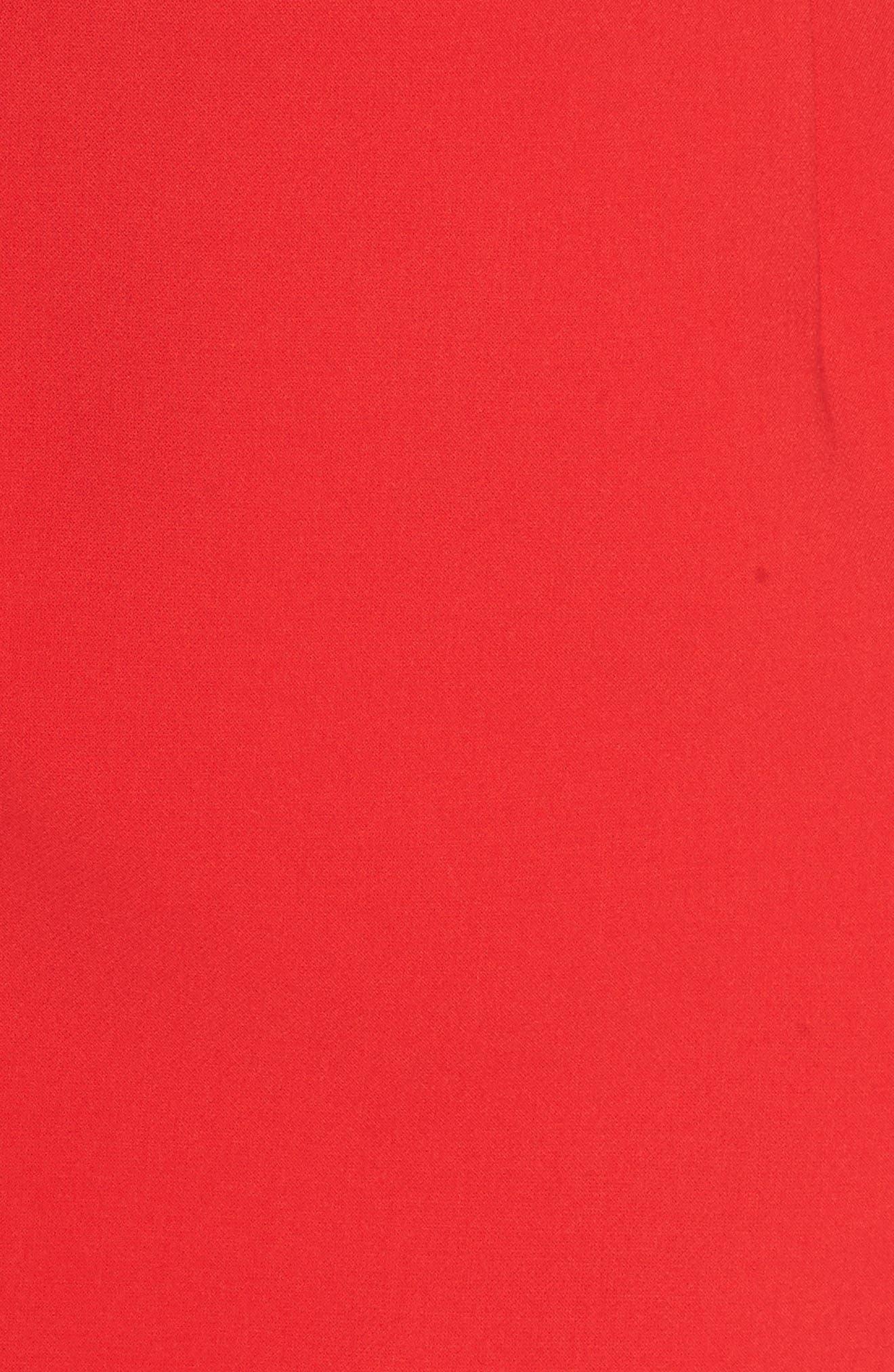 Whisper Light Sheath Dress,                             Alternate thumbnail 6, color,                             ROYAL SCARLETT