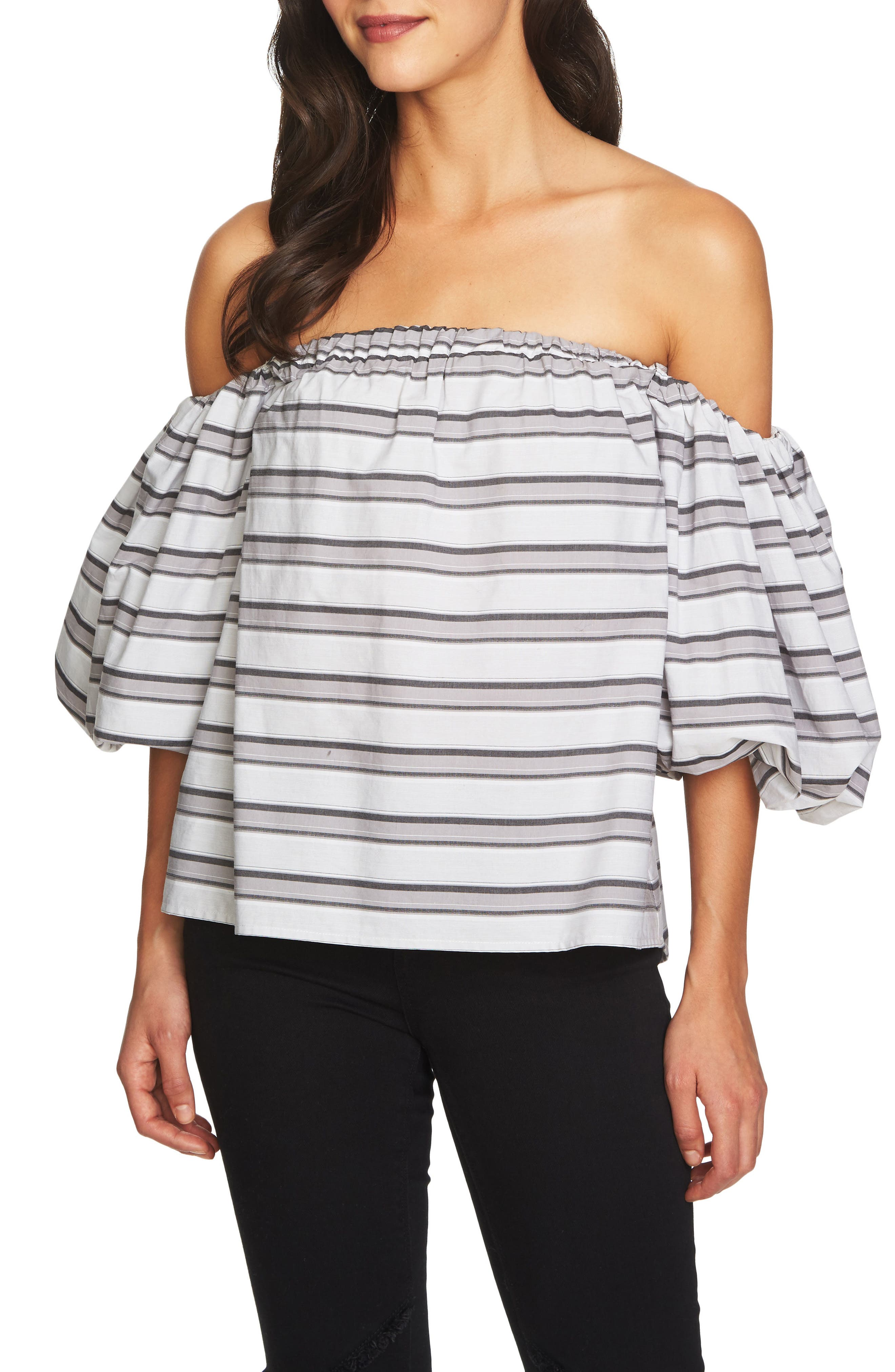 Off the Shoulder Puff Sleeve Top,                             Main thumbnail 1, color,
