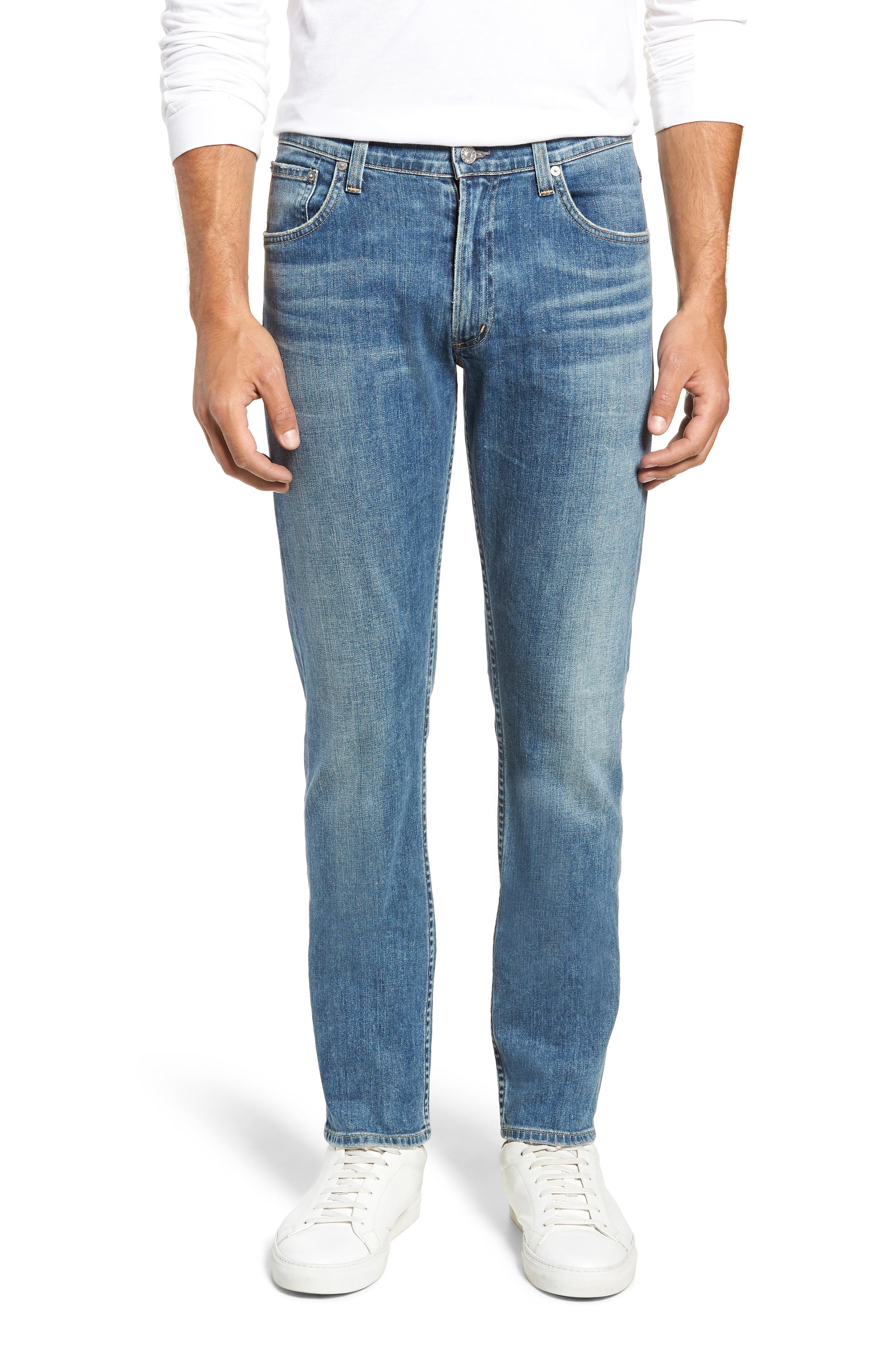 Bowery Slim Fit Jeans,                         Main,                         color, ALAND