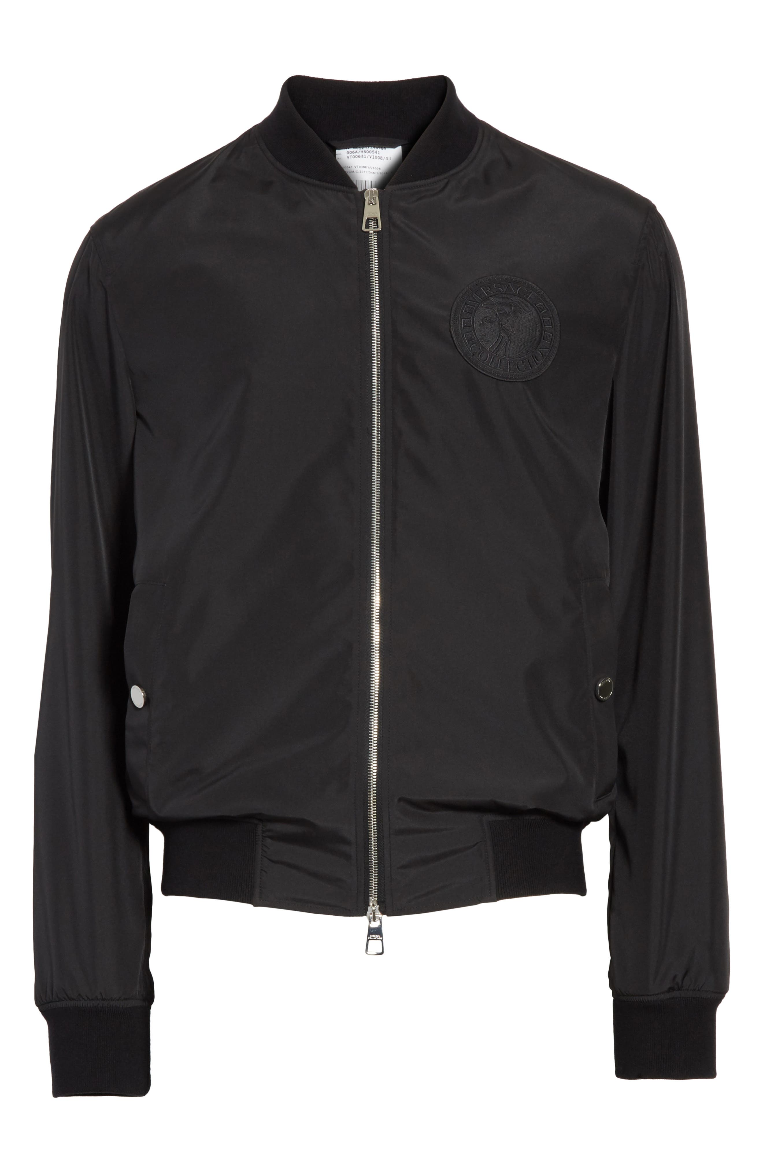 Bomber Jacket with Patch,                             Alternate thumbnail 5, color,                             130
