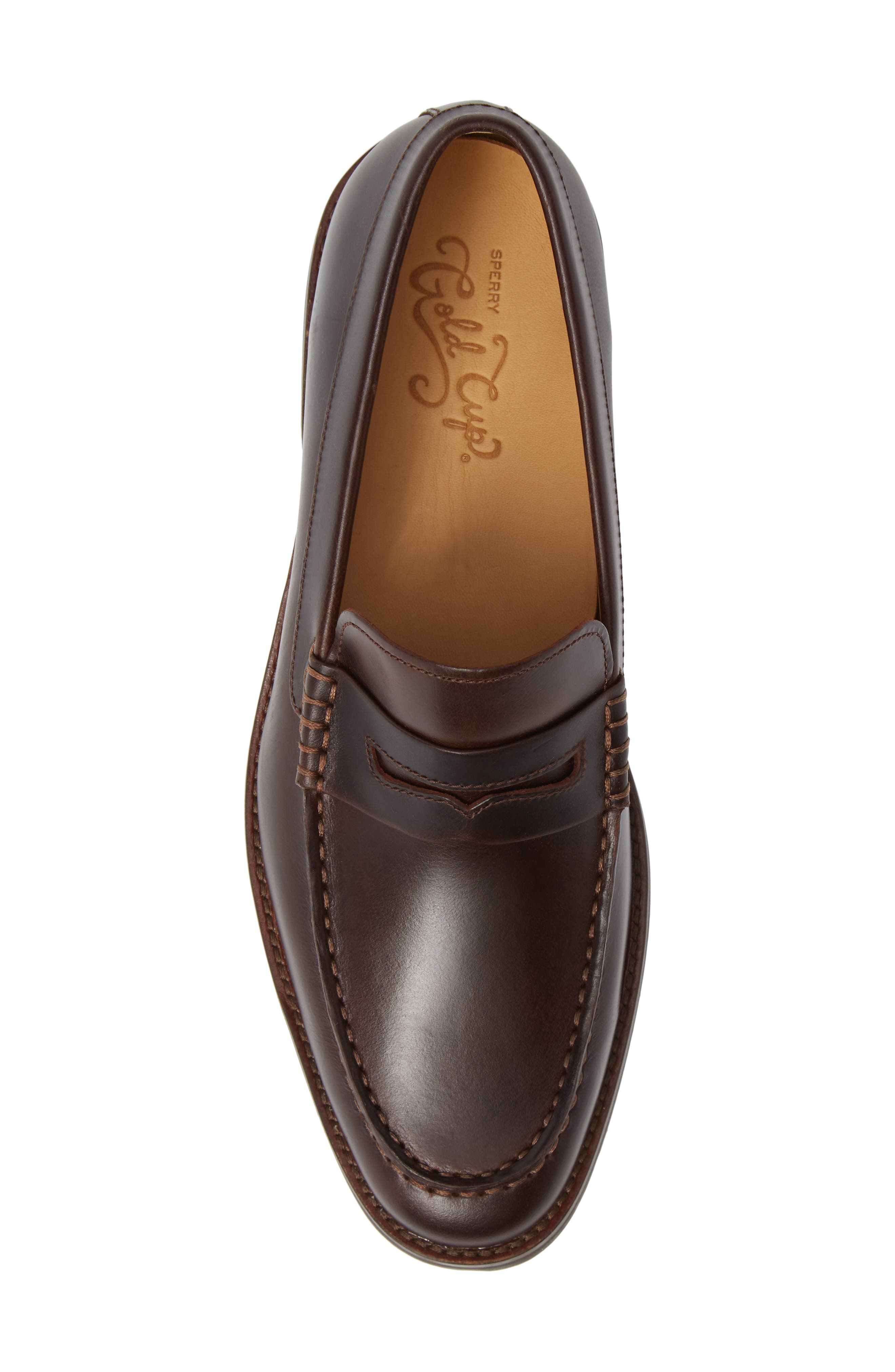 Gold Cup Exeter Penny Loafer,                             Alternate thumbnail 5, color,                             AMARETTO