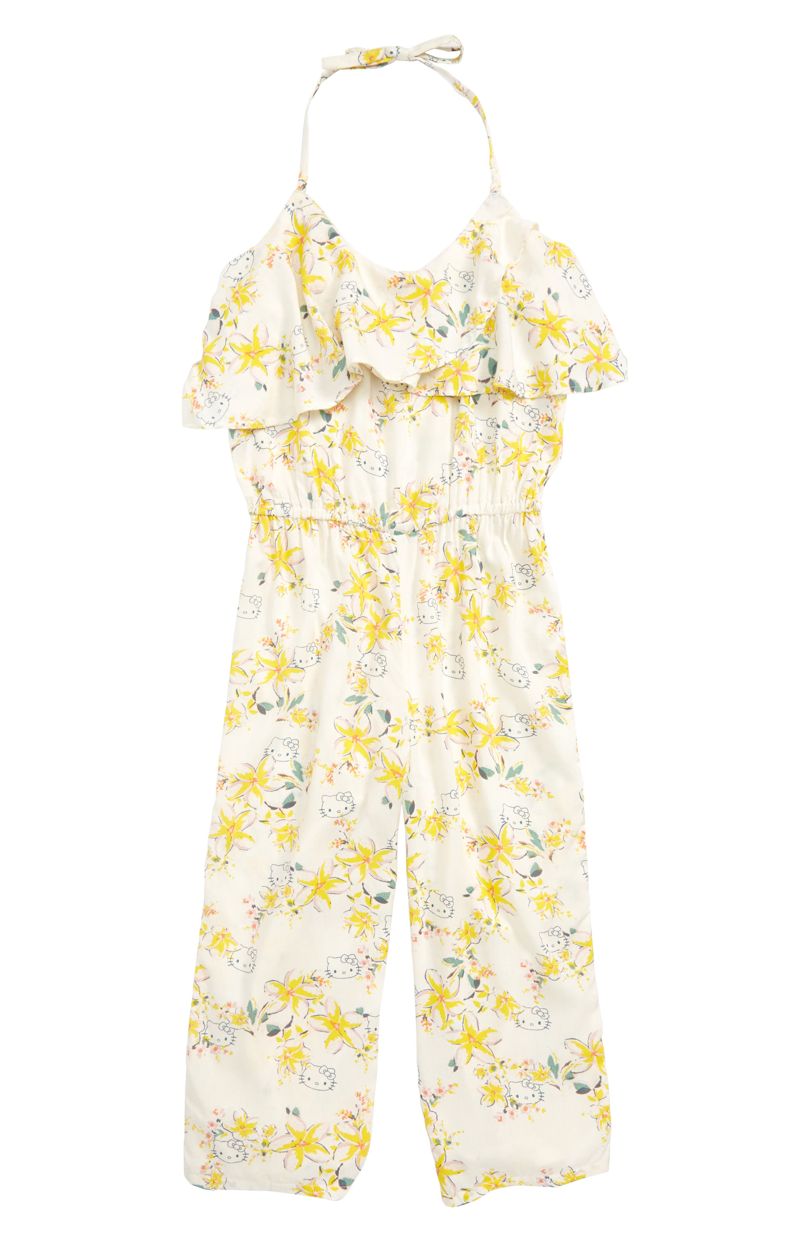 x Hello Kitty<sup>®</sup> Moani Ruffle Jumpsuit,                             Main thumbnail 1, color,                             900