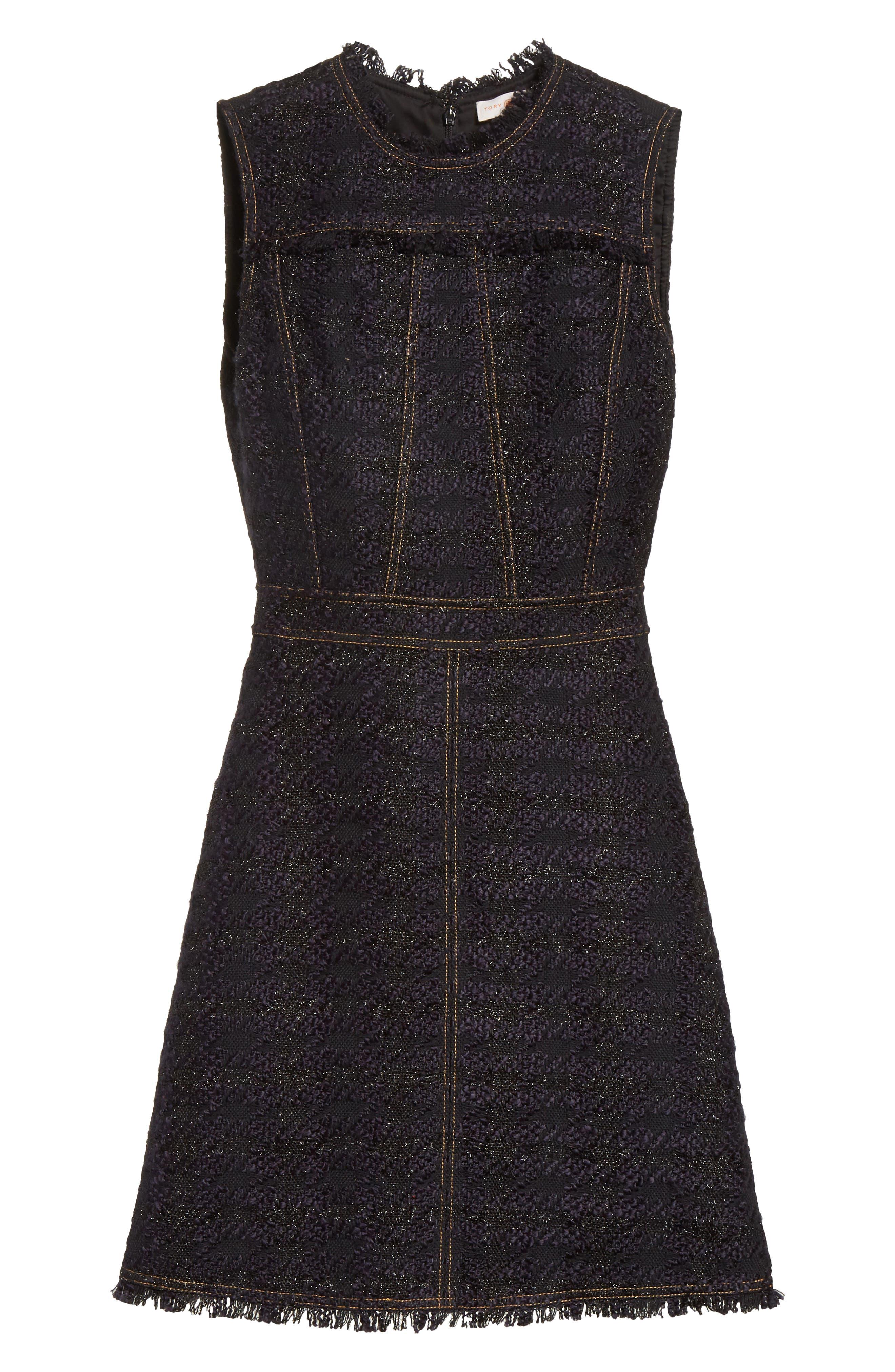 Aria Tweed Sheath Dress,                             Alternate thumbnail 6, color,                             007
