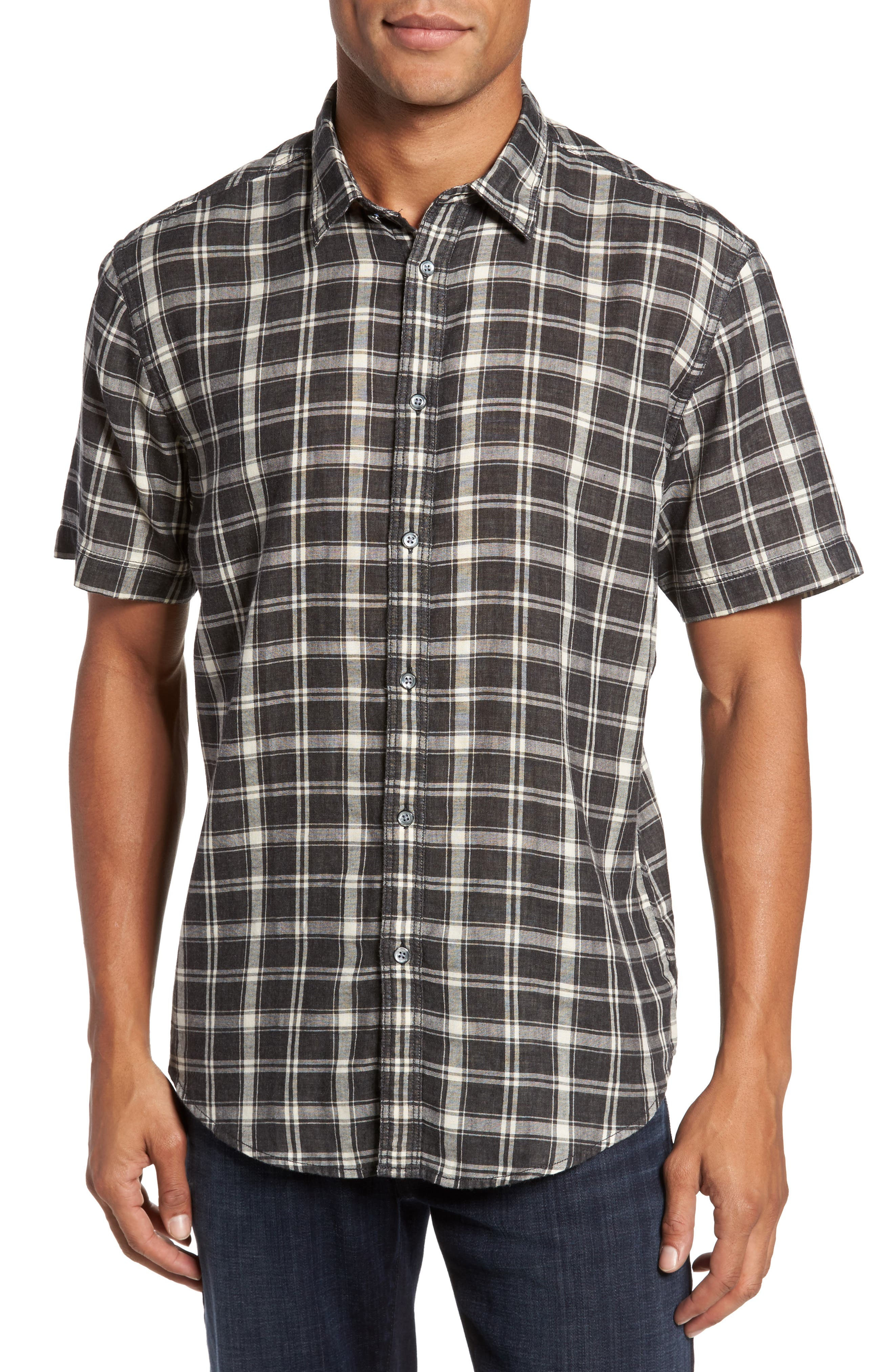 Hansen Regular Fit Plaid Sport Shirt,                         Main,                         color, 010