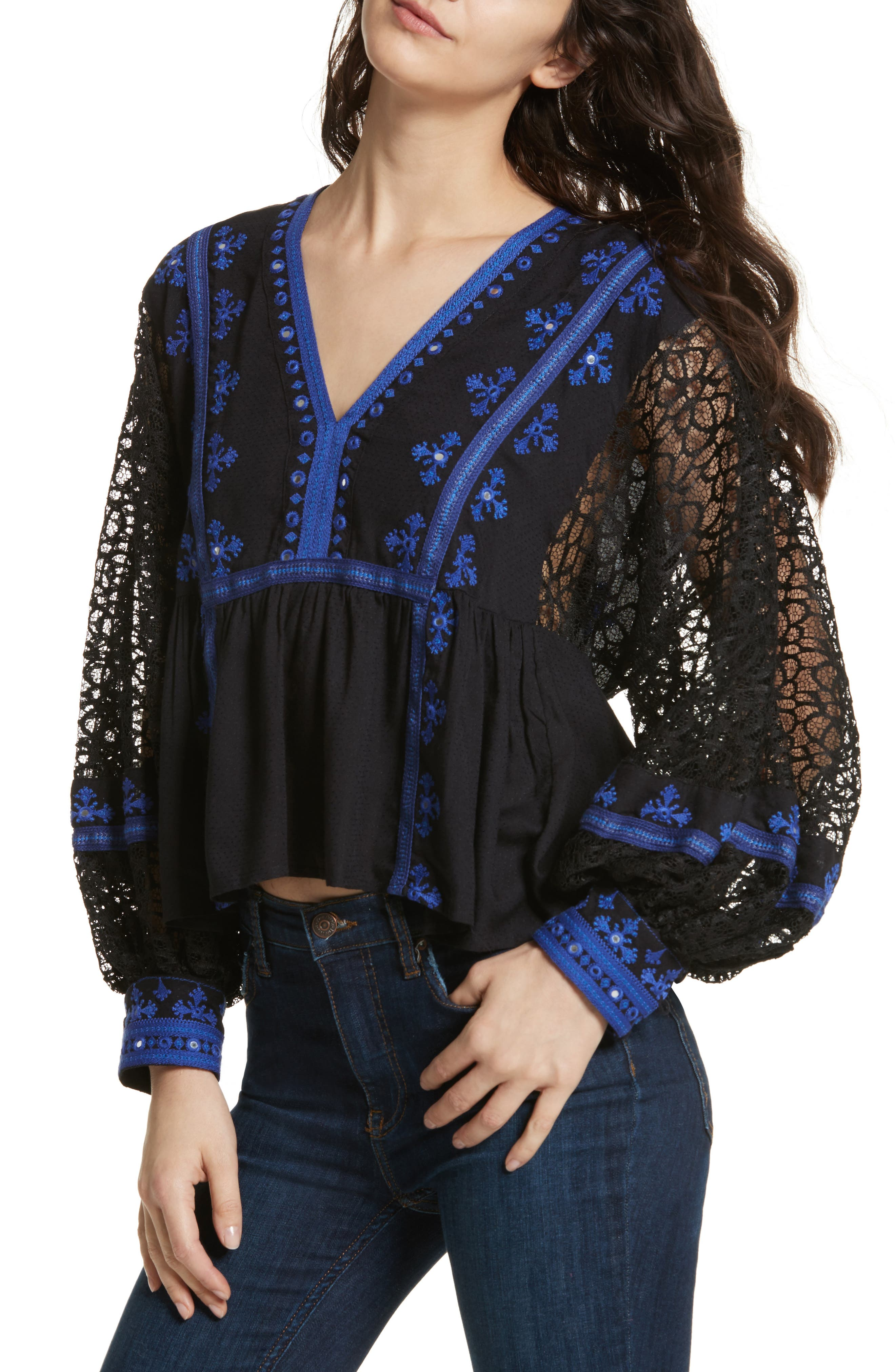 Boogie All Night Blouse,                             Main thumbnail 1, color,                             001