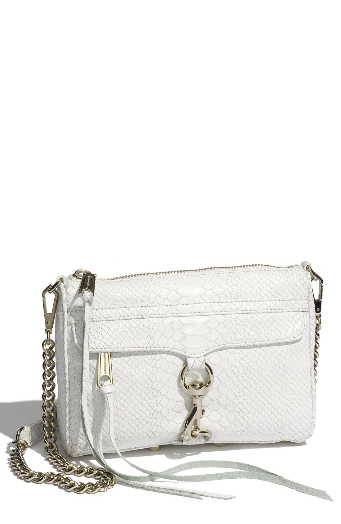 'Mini MAC' Croc Embossed Convertible Crossbody Bag,                             Main thumbnail 7, color,