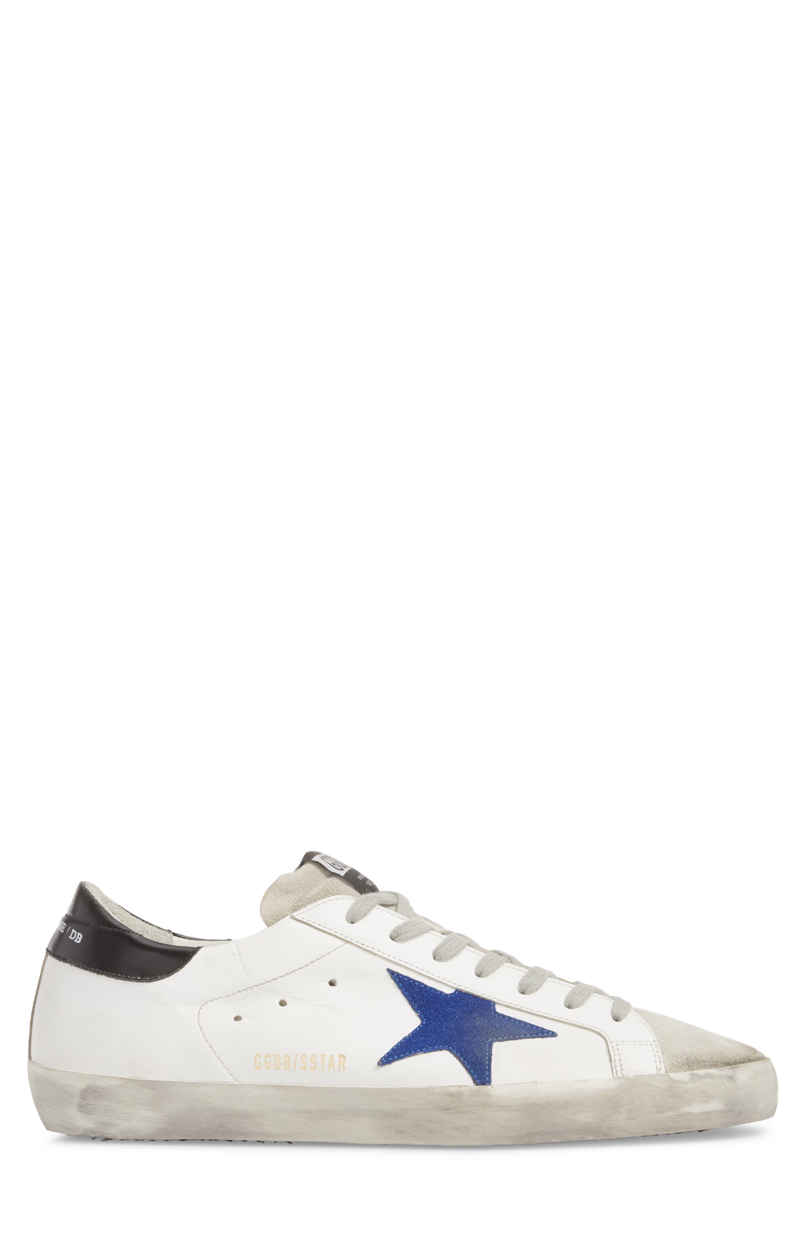 'Superstar' Sneaker,                             Alternate thumbnail 3, color,                             WHITE-BLUE-BLACK