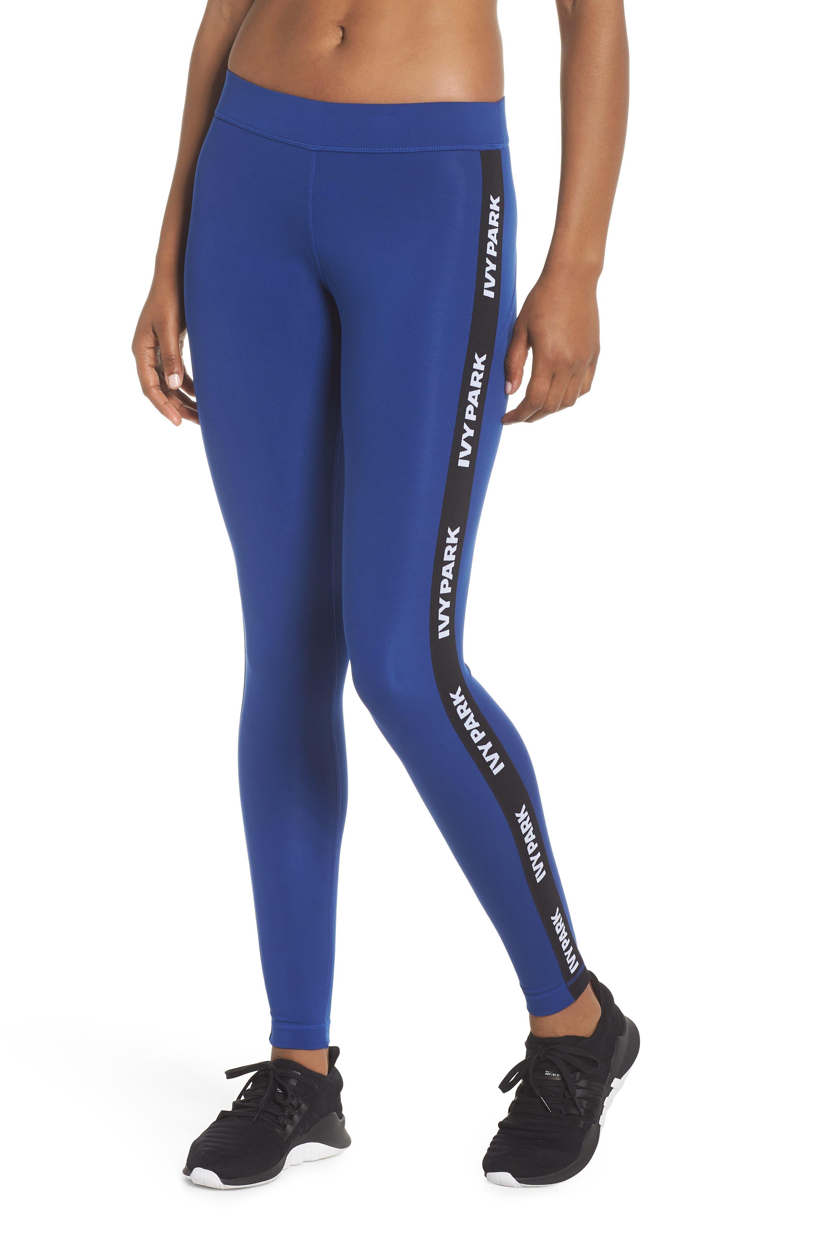 Logo Tape Leggings,                         Main,                         color, SODALITE BLUE