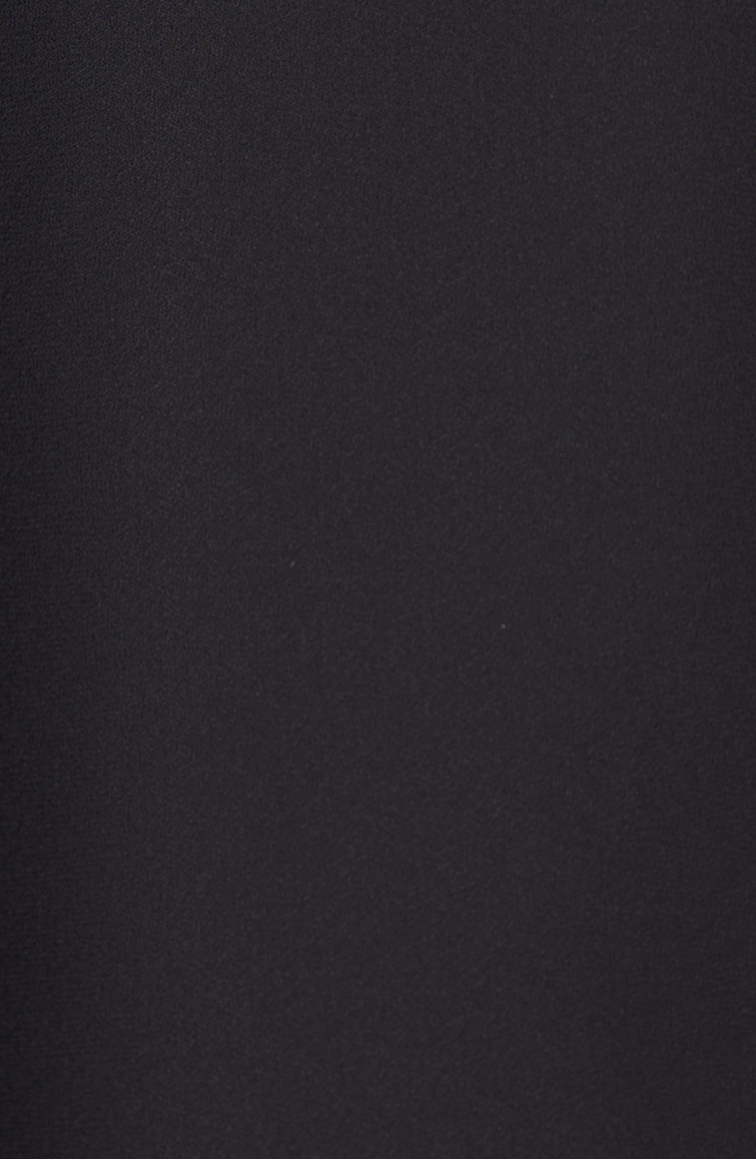 Haty Button Front Shirt,                             Alternate thumbnail 6, color,                             TRUE BLACK