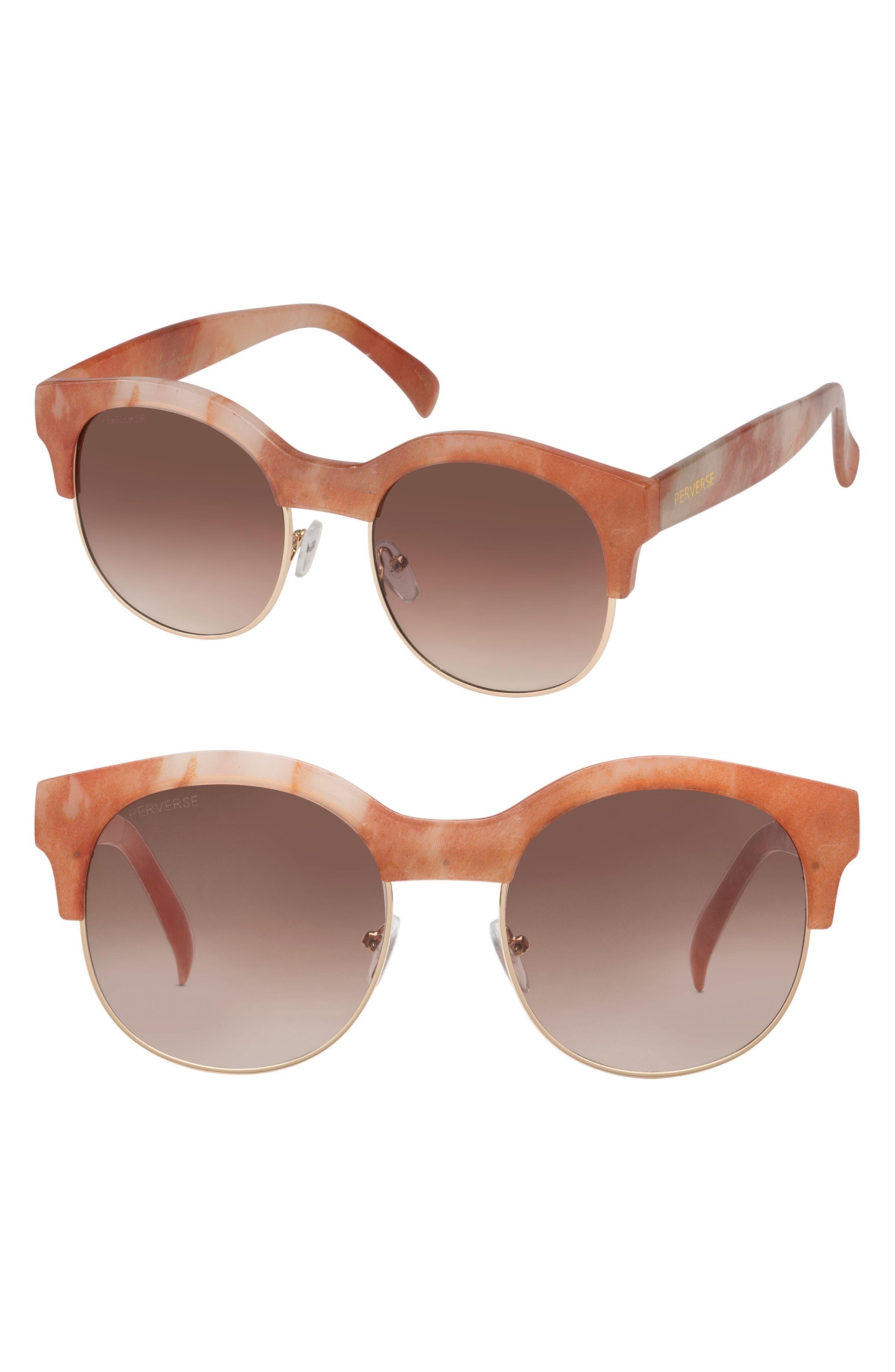 Greek 50mm Round Sunglasses,                         Main,                         color, 100