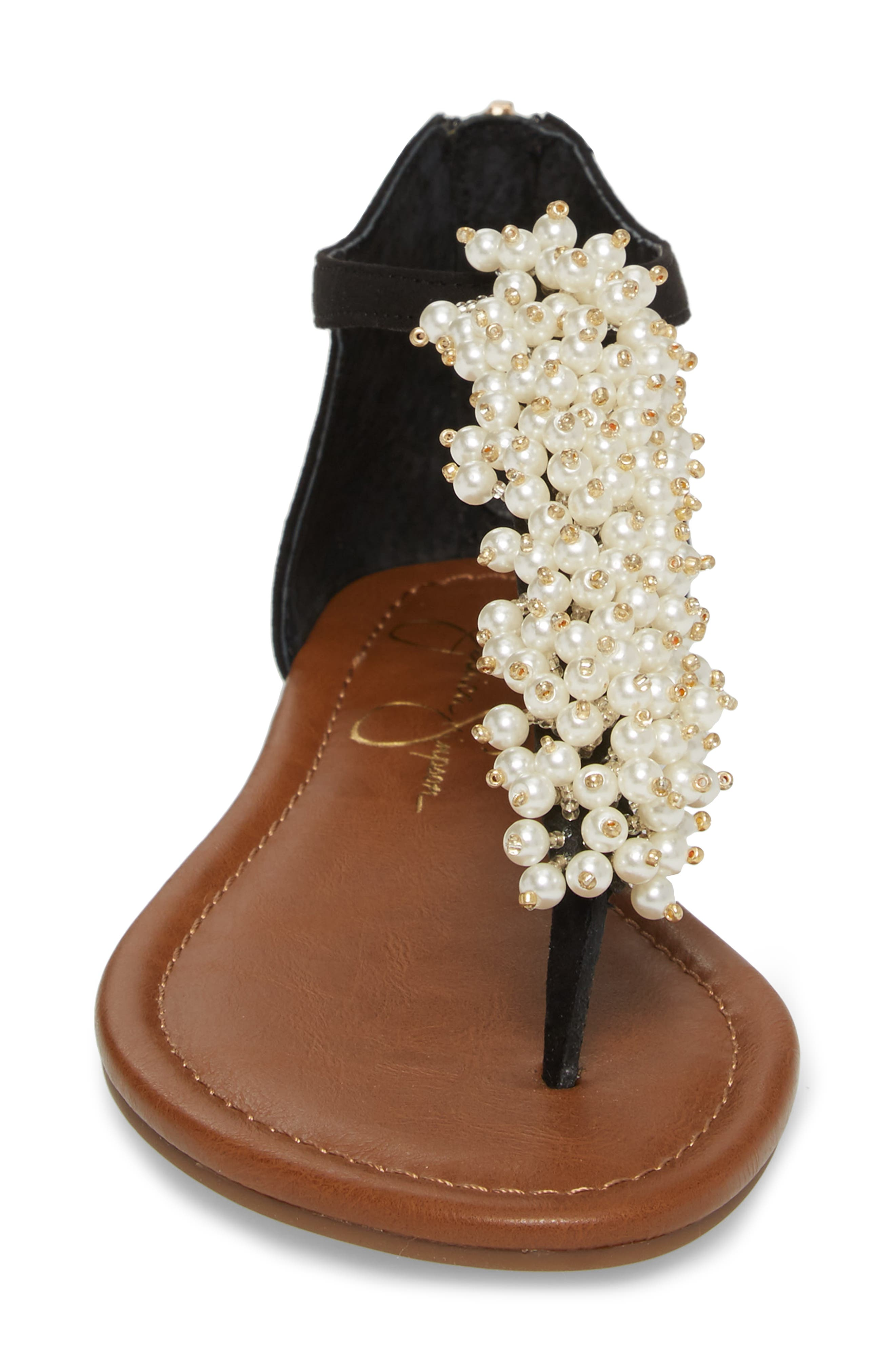 Kenton Crystal Embellished Sandal,                             Alternate thumbnail 4, color,                             001