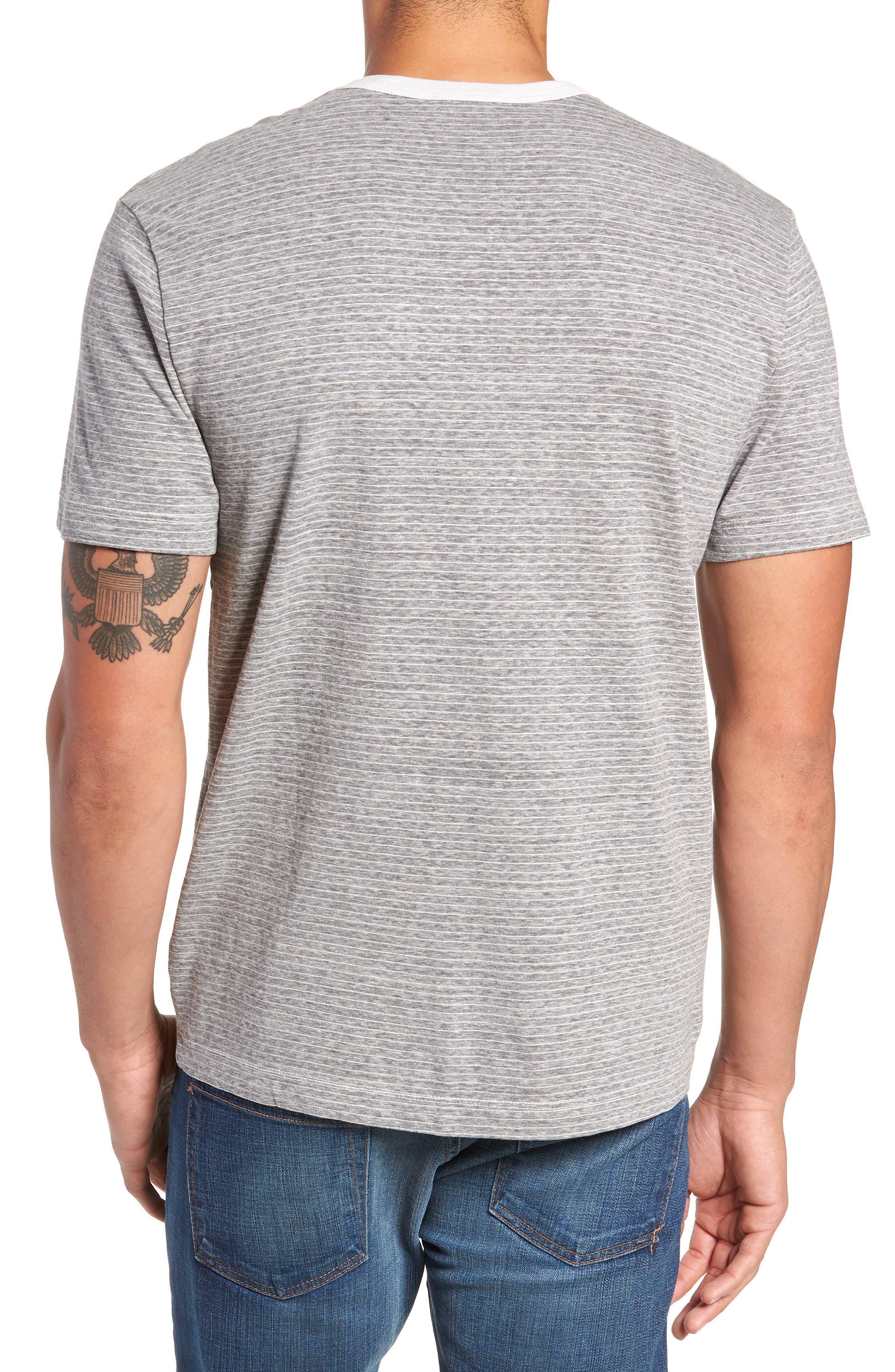 Microstripe Ringer T-Shirt,                             Alternate thumbnail 2, color,                             MEMORY PIGMENT
